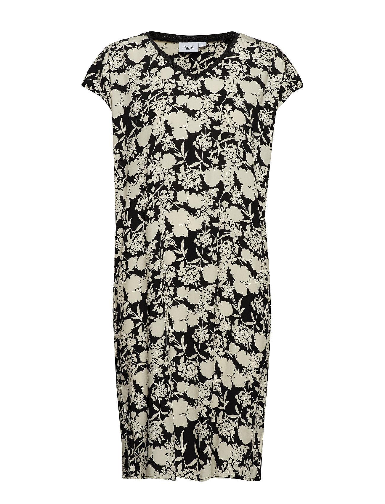 Saint Tropez Woven Dress S/S Polvipituinen Mekko Monivärinen/Kuvioitu Saint Tropez