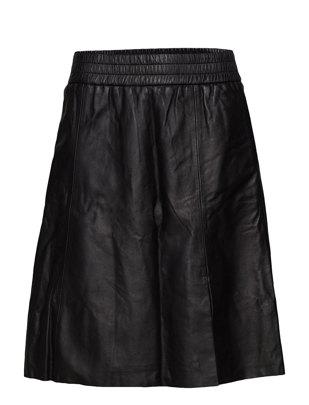 Second Female Melvin Leather Skirt Polvipituinen Hame Musta Second Female