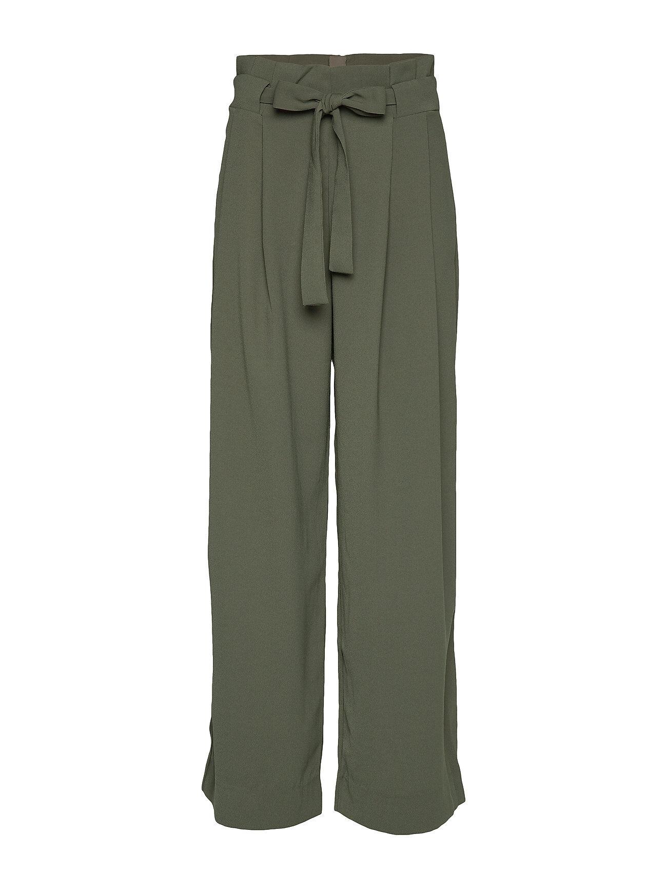 Second Female Yasemin Long Trousers Leveälahkeiset Housut Vihreä Second Female