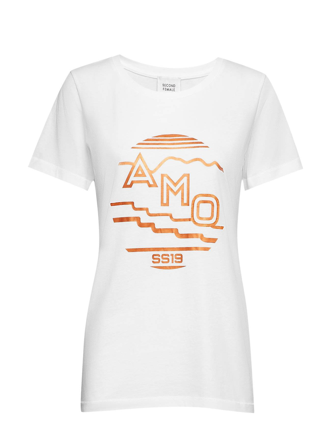 Second Female Amo Tee T-shirts & Tops Short-sleeved Valkoinen Second Female