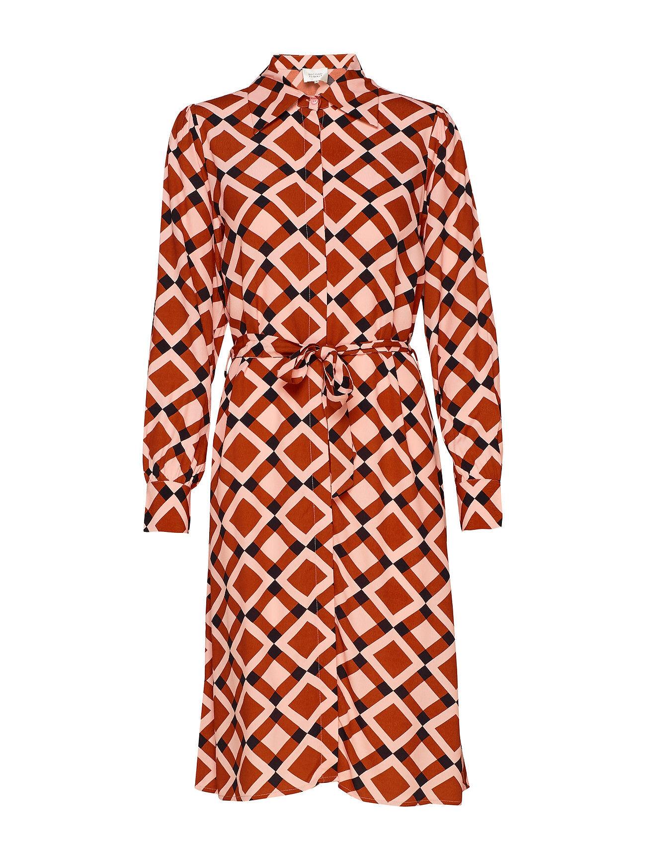 Second Female Grama Dress Polvipituinen Mekko Oranssi Second Female