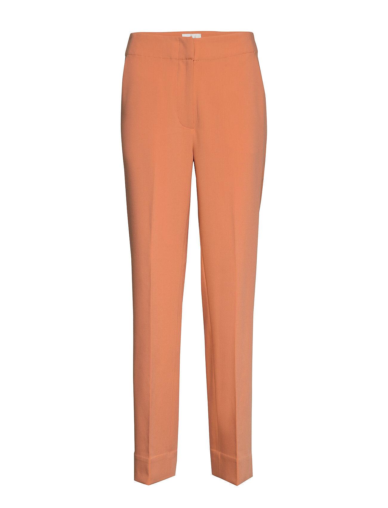Second Female Evi Hw Trousers Suoralahkeiset Housut Oranssi Second Female