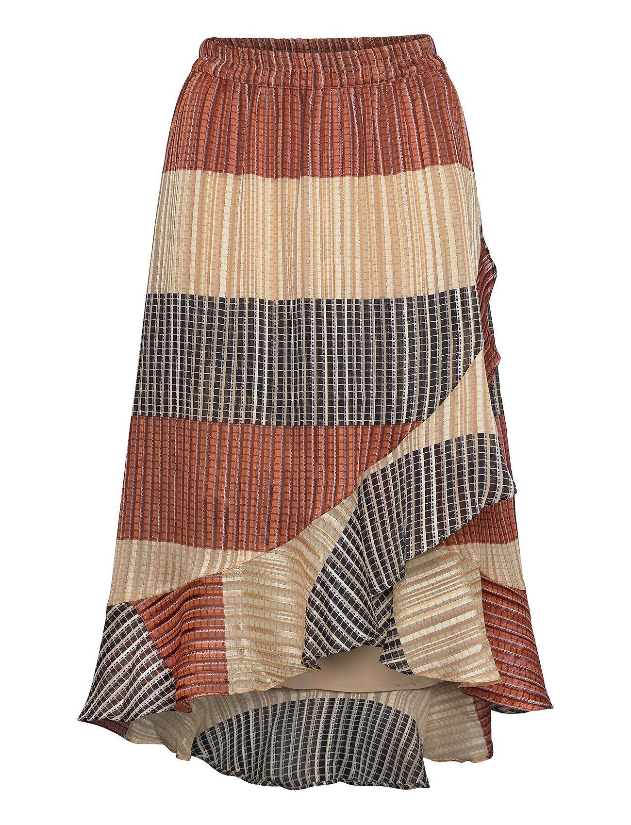 Second Female Board Mw Wrap Skirt Polvipituinen Hame Monivärinen/Kuvioitu Second Female