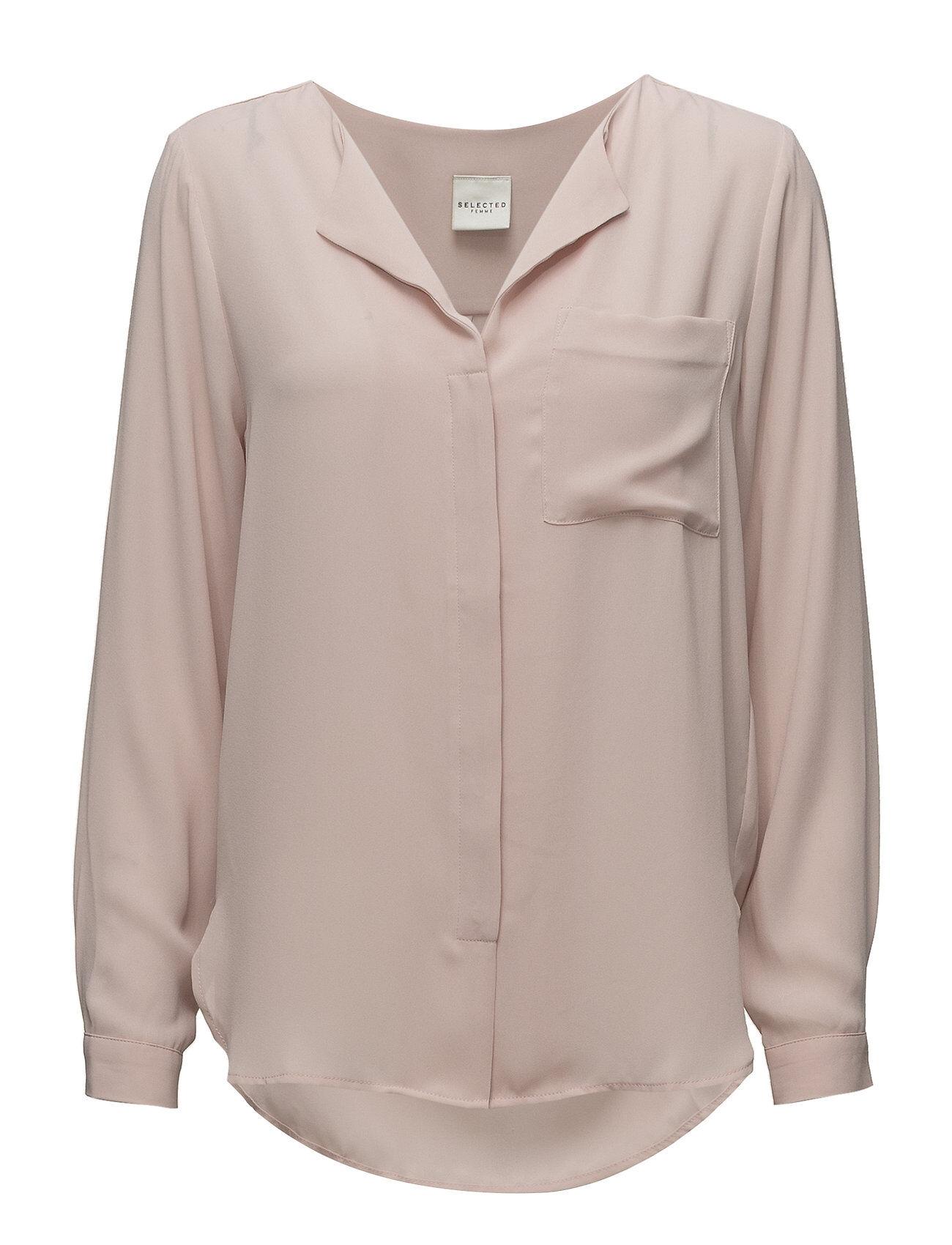 Selected Femme Slfdynella Ls Shirt Noos Pitkähihainen Pusero Paita Vaaleanpunainen Selected Femme