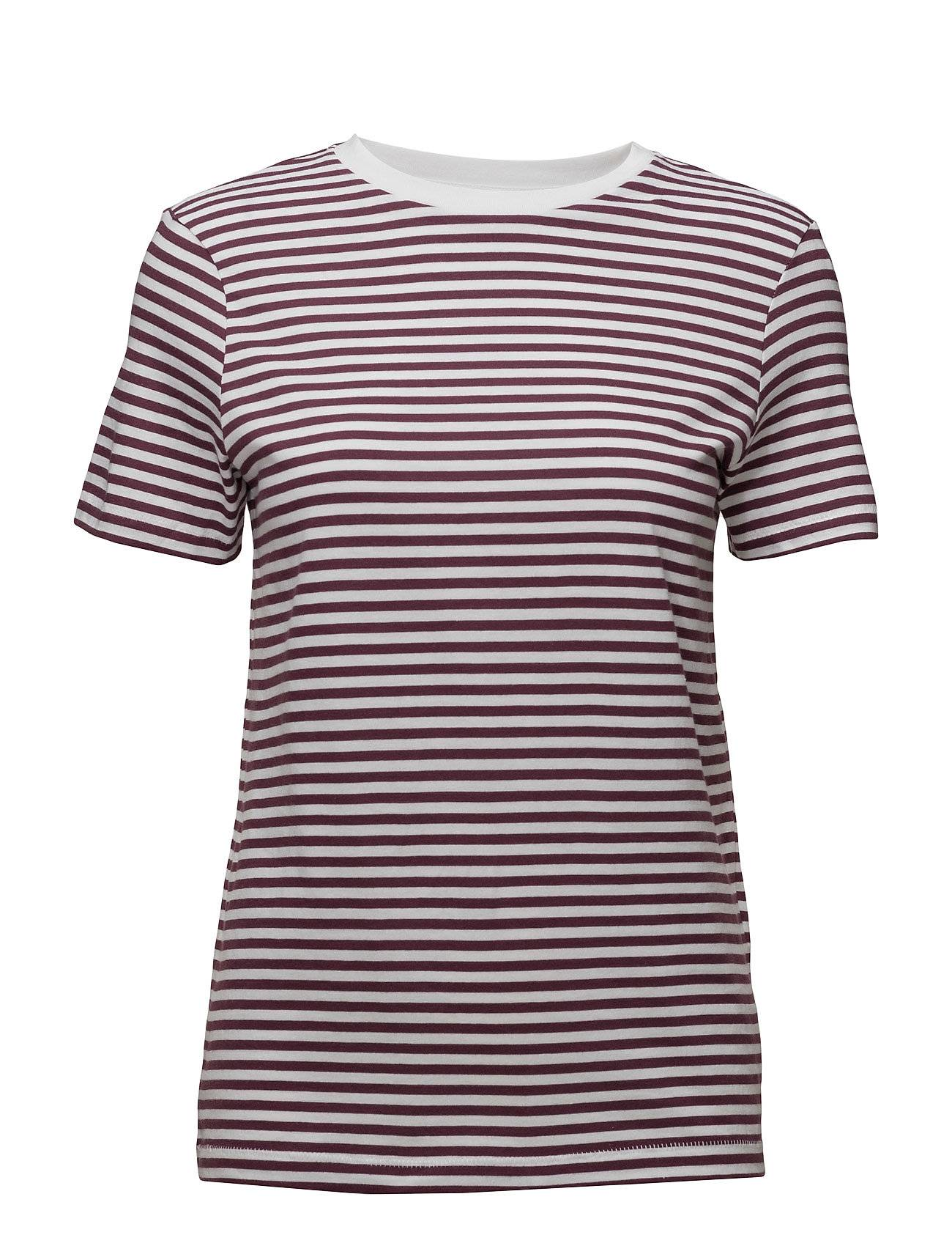Selected Femme Slfmy Perfect Ss Tee Box Cut-Stri. Noos T-shirts & Tops Short-sleeved Liila Selected Femme