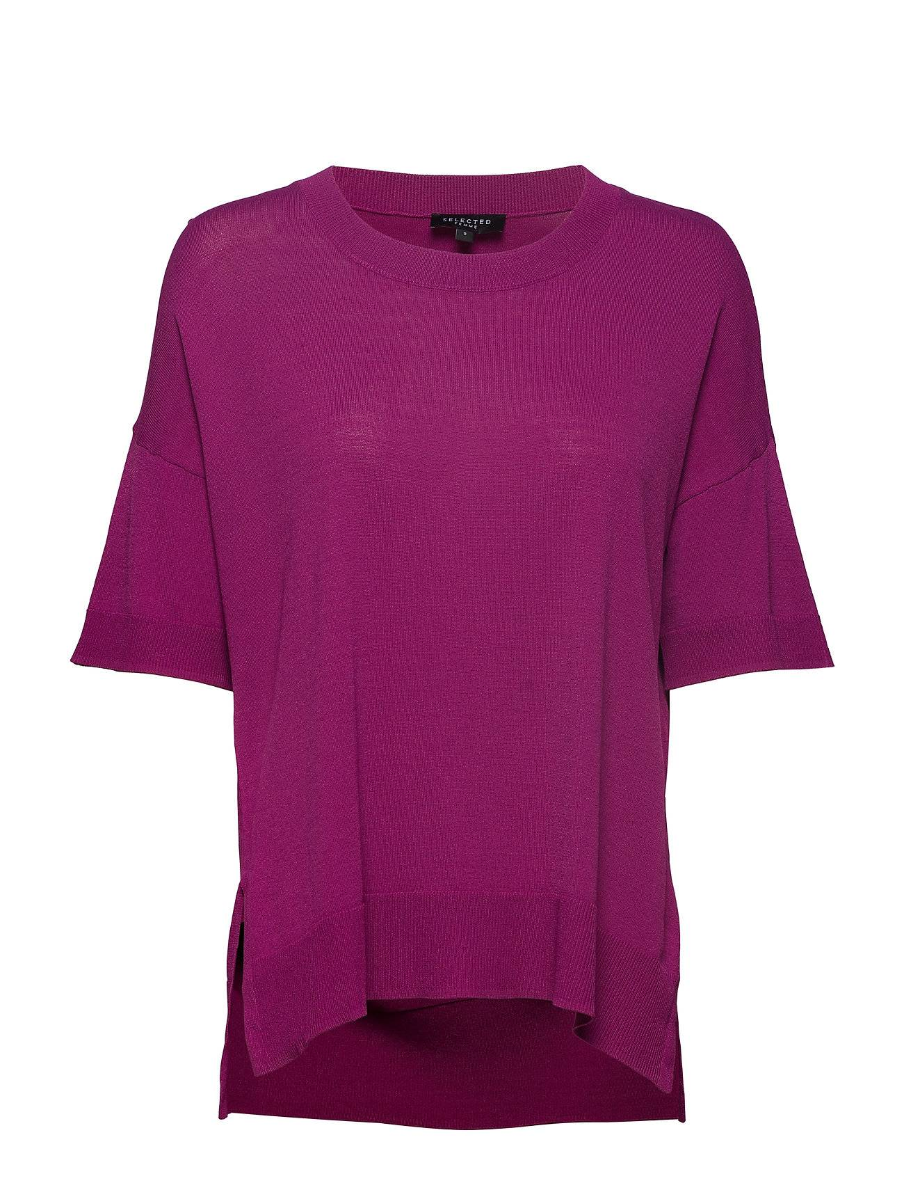 Selected Femme Sfwille Ss Knit Pullover Blouses Short-sleeved Liila Selected Femme
