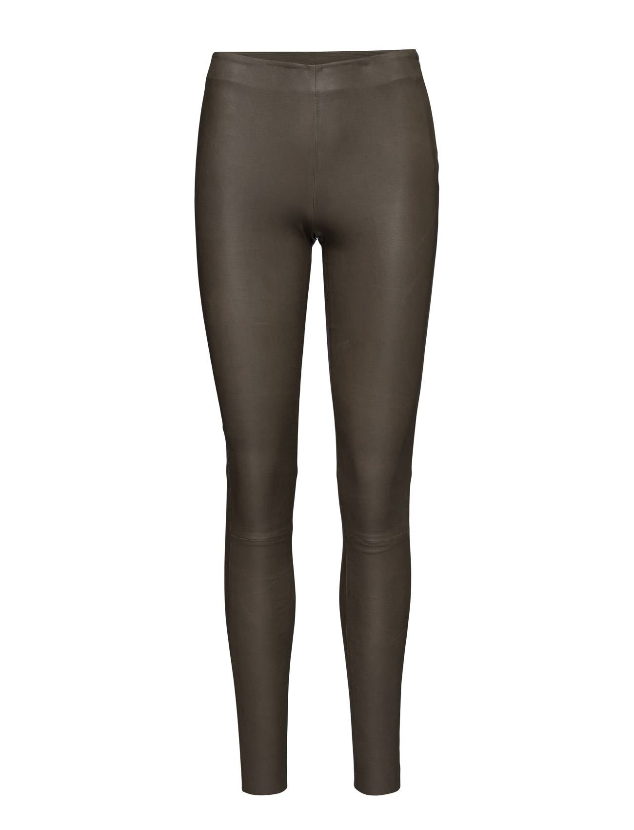 Selected Femme Slfsylvia Mw Stretch Leather Leggin B Leather Leggings/Housut Ruskea Selected Femme