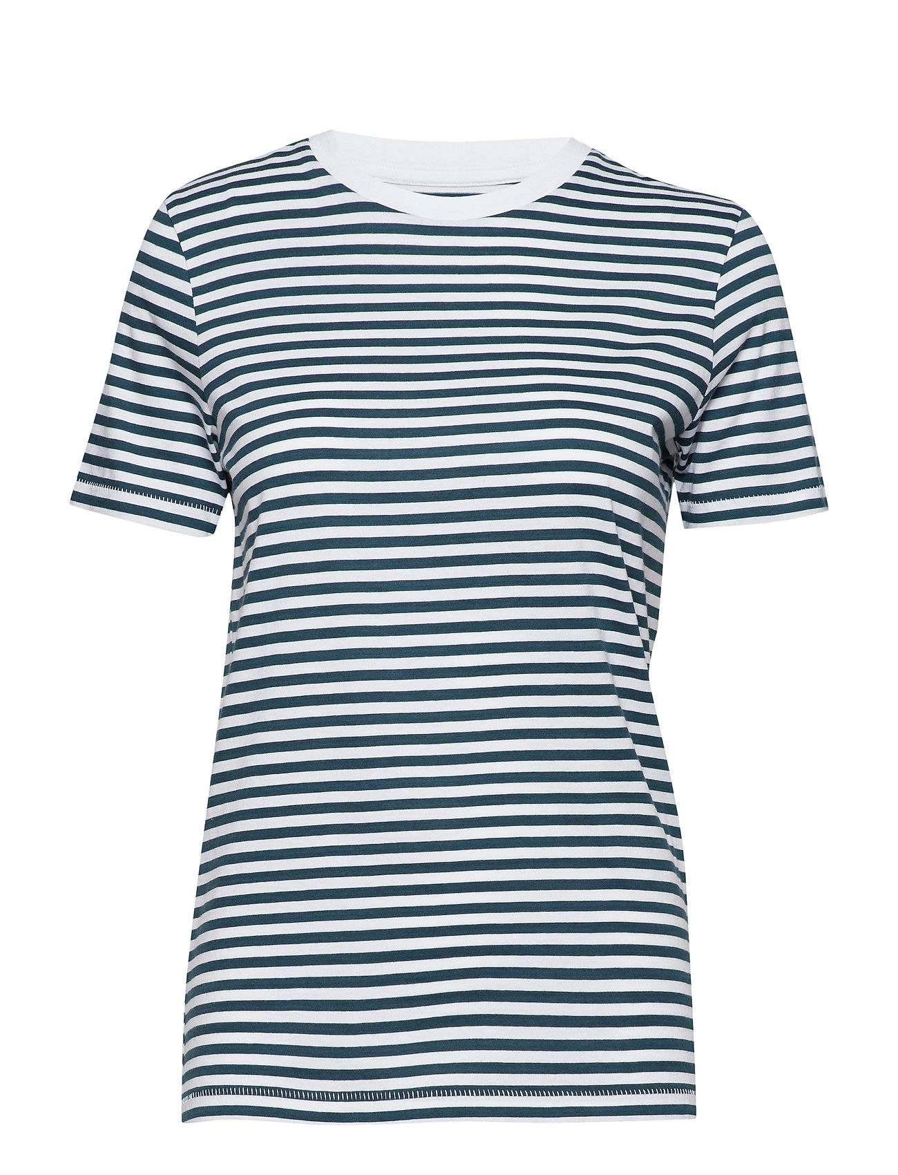 Selected Femme Slfmy Perfect Ss Tee Box Cut-Stri Color T-shirts & Tops Short-sleeved Sininen Selected Femme
