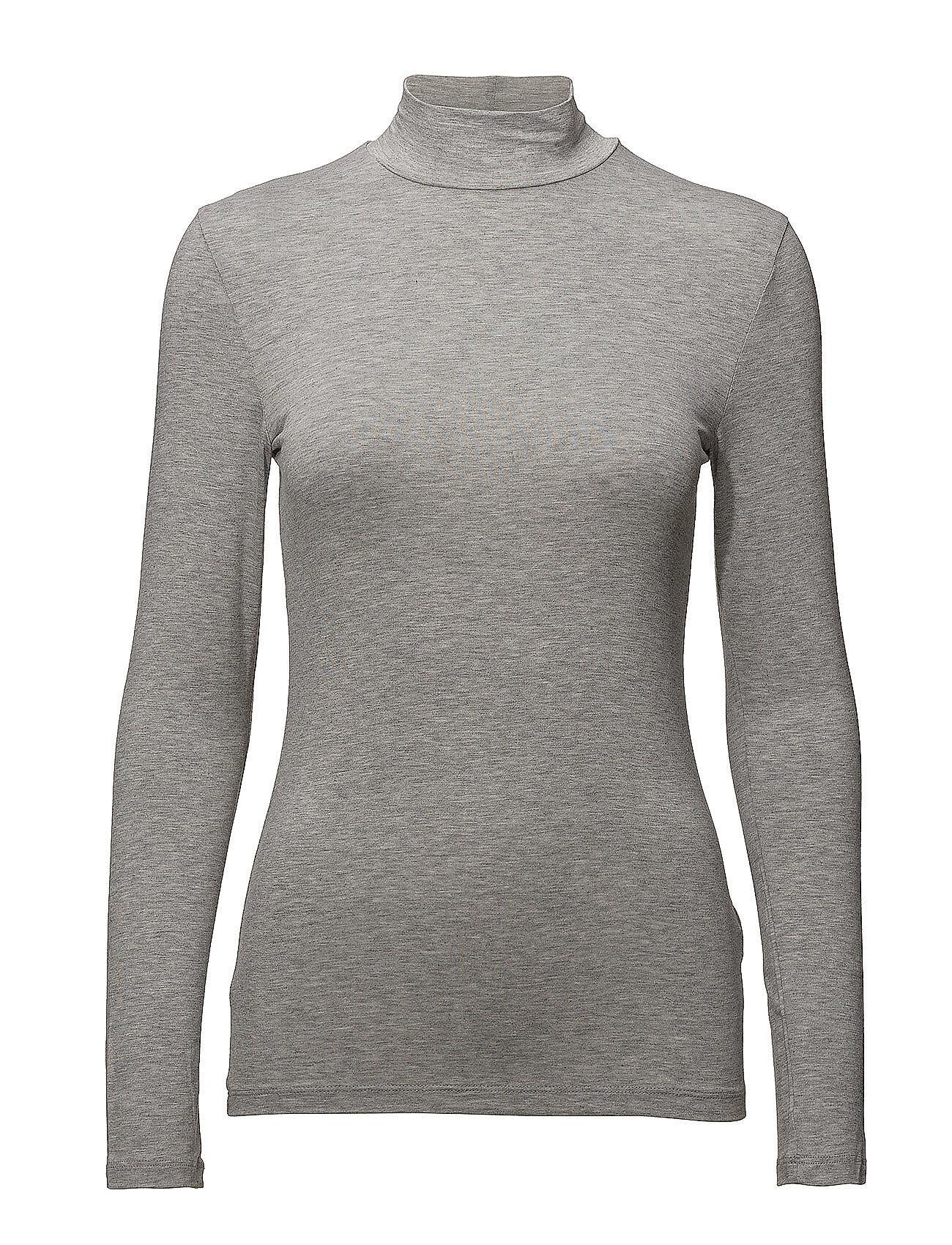 Selected Femme Slfmio Ls Highneck B - Noos T-shirts & Tops Long-sleeved Harmaa Selected Femme
