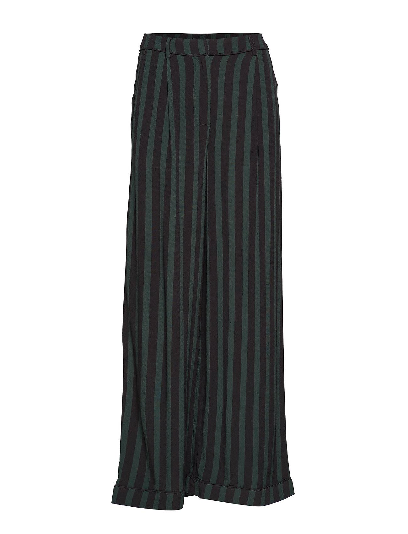 Selected Femme Slfflorenta Hw Maxi Pants B Leveälahkeiset Housut Vihreä Selected Femme