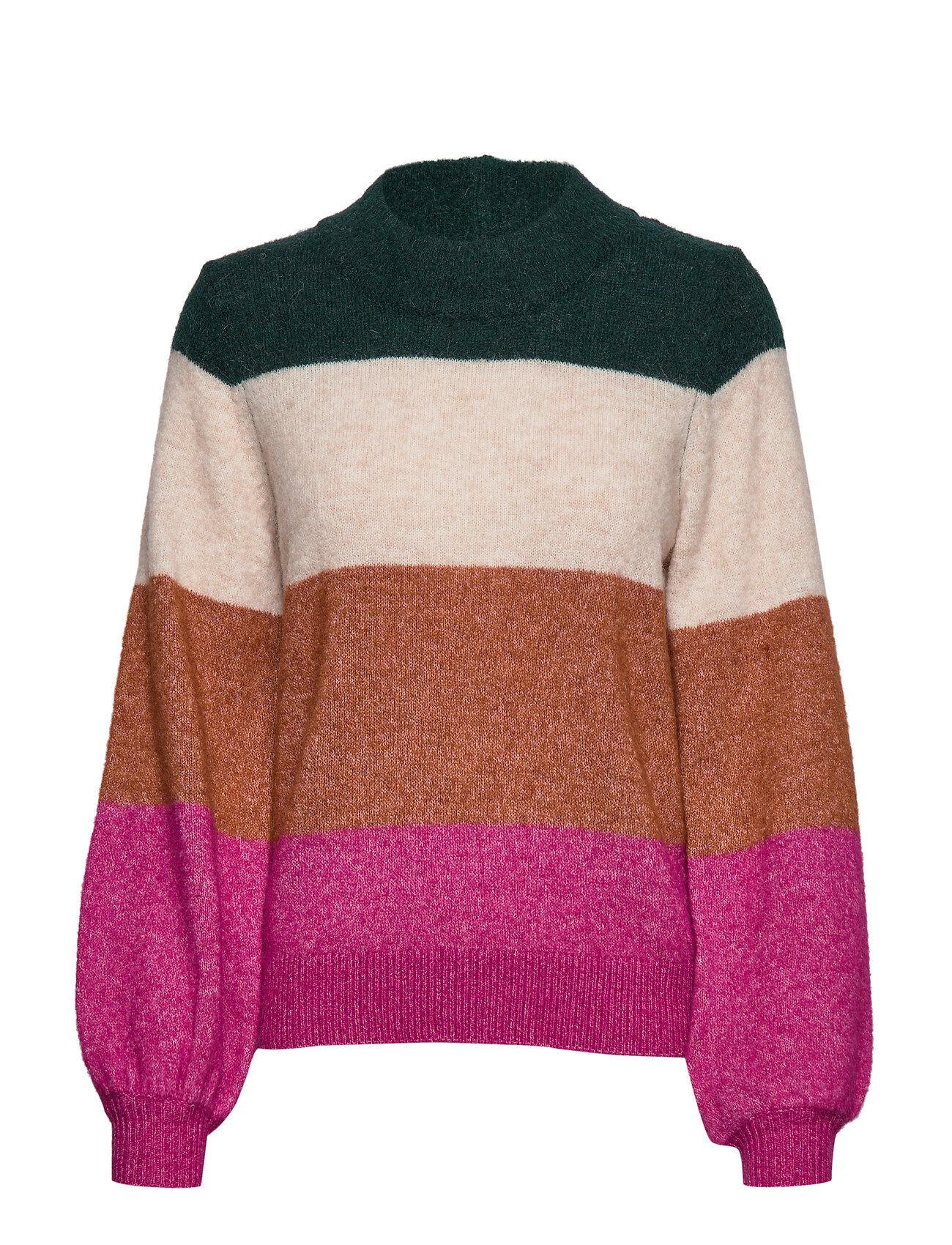 Selected Femme Slfanna Ls X-Mas Knit O-Neck B Kilpikonnakaulus Poolopaita Vaaleanpunainen Selected Femme