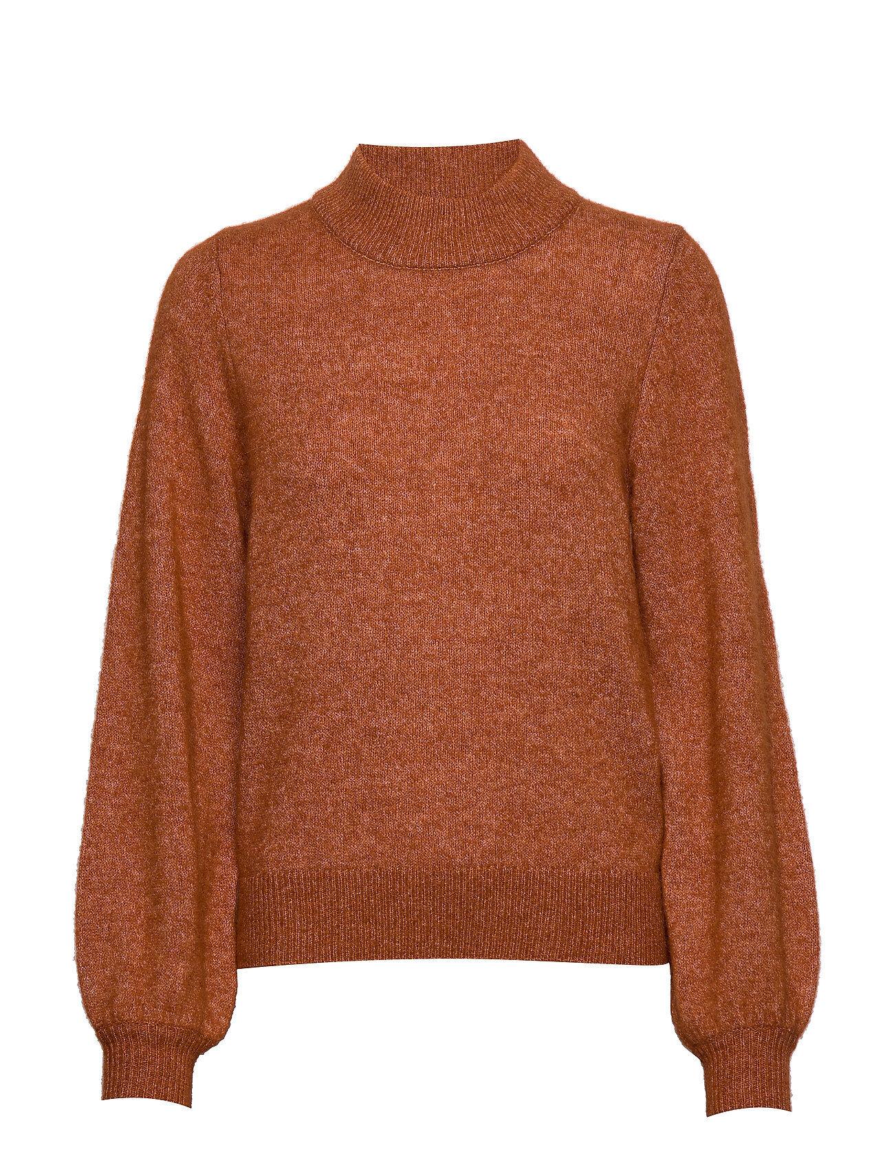 Selected Femme Slfanna Ls X-Mas Knit O-Neck B Kilpikonnakaulus Poolopaita Oranssi Selected Femme