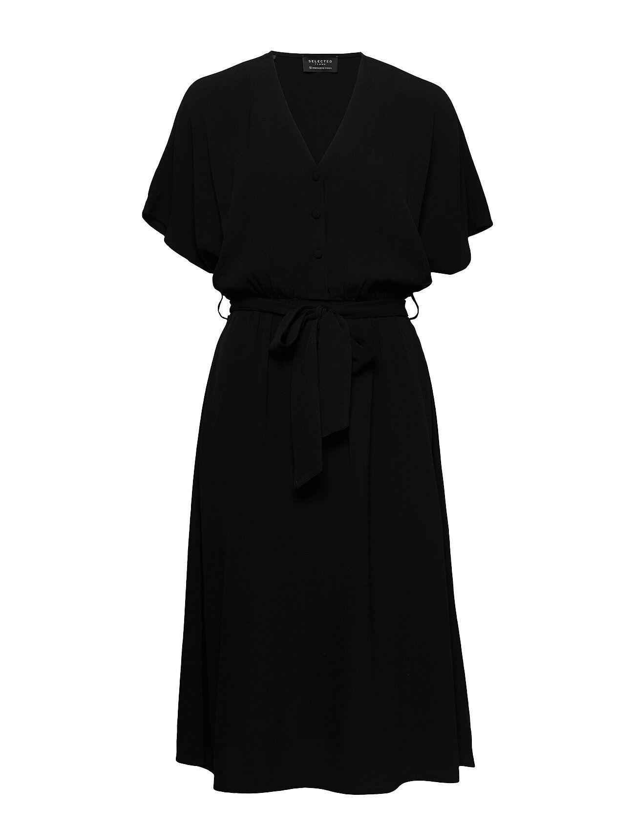 Selected Femme Slfvienna Ss Short Dress B Noos Polvipituinen Mekko Musta Selected Femme
