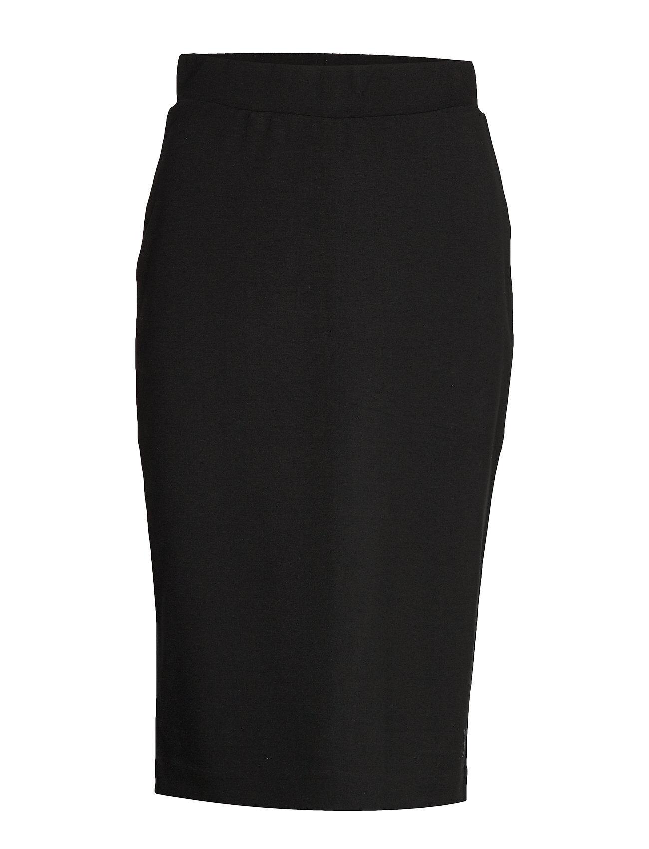 Selected Femme Slfshelly Mw Pencil Skirt B Noos Polvipituinen Hame Musta Selected Femme