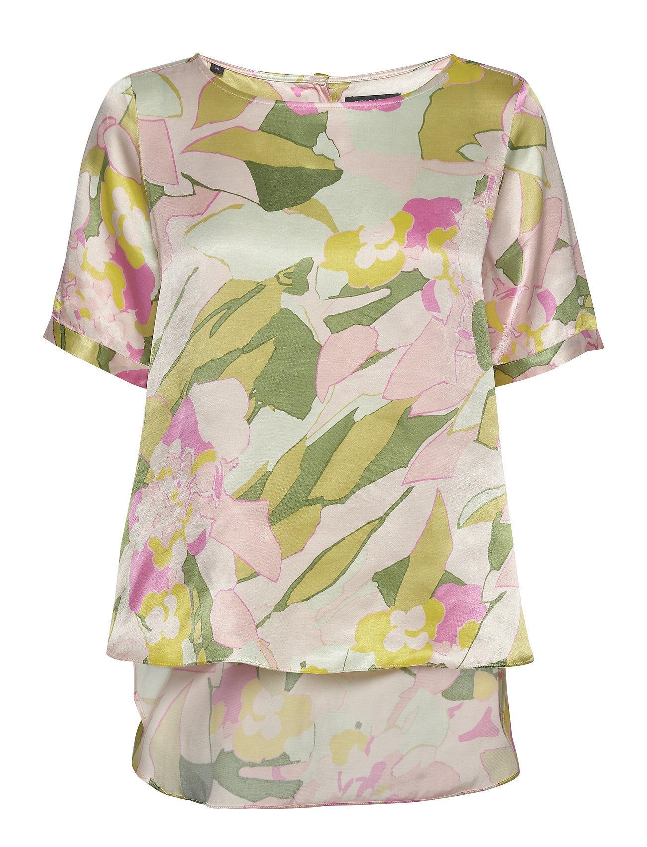 Selected Femme Slfmola Ss Top B T-shirts & Tops Short-sleeved Monivärinen/Kuvioitu Selected Femme