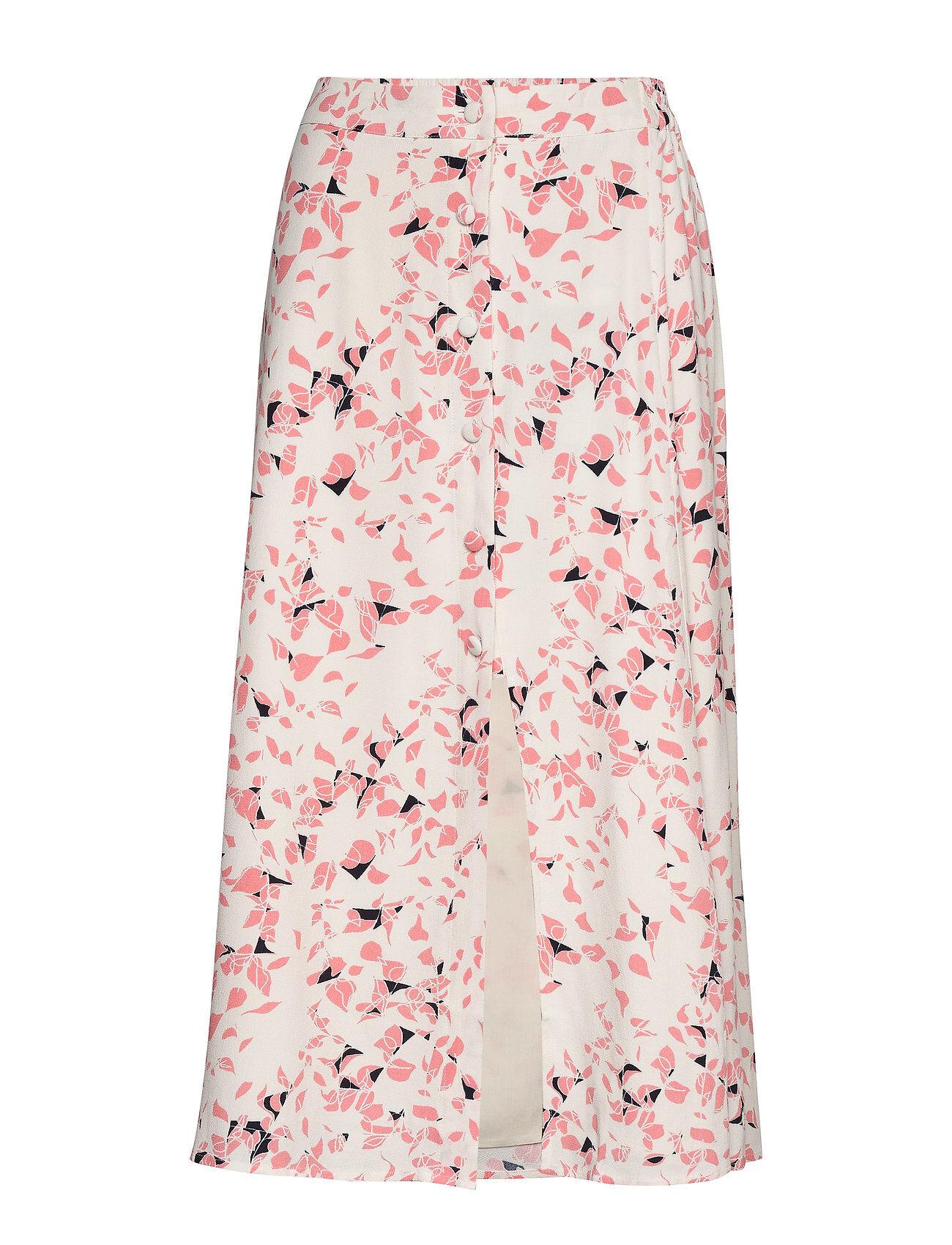 Selected Femme Slfrebekka Mw Midi Slit Skirt B Polvipituinen Hame Vaaleanpunainen Selected Femme