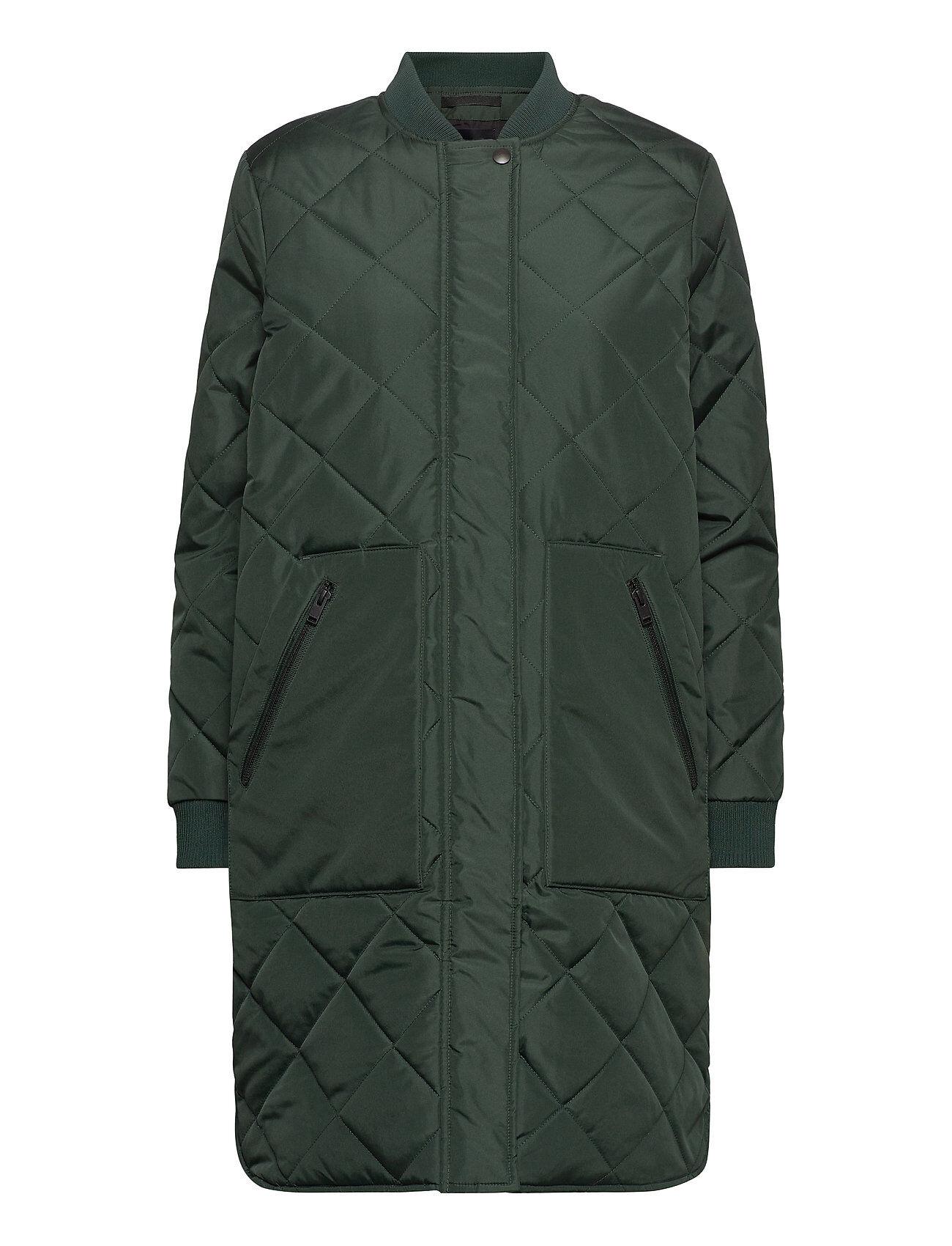Selected Femme Slfnatalia Quilted Coat B Noos Tikkitakki Vihreä Selected Femme