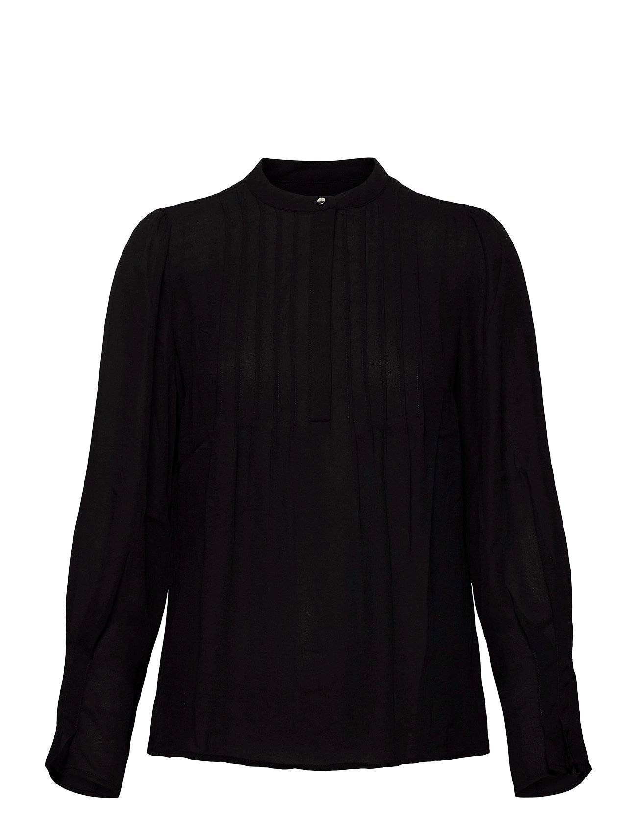 Selected Femme Slflivia Ls Top Noos T-shirts & Tops Long-sleeved Musta Selected Femme