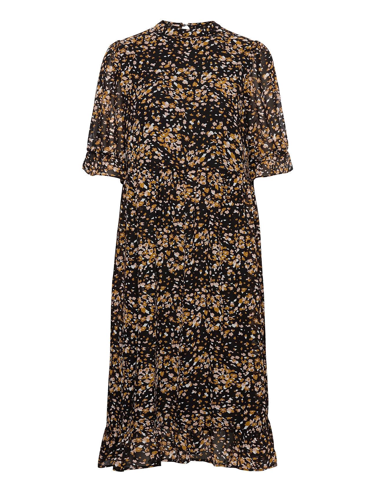 Selected Femme Slfelina Ss Dress Ex Polvipituinen Mekko Musta Selected Femme