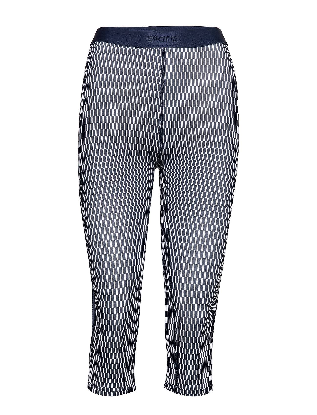 Skins Dnamic Womens Capri Tights Running/training Tights Sininen Skins