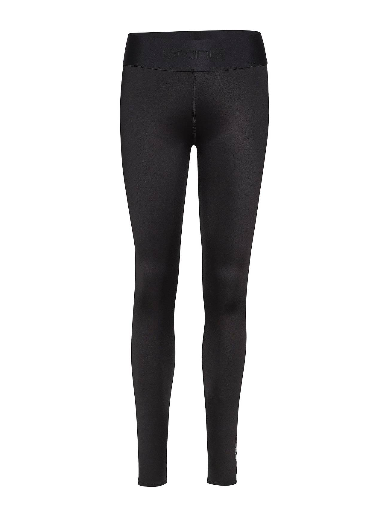 Image of Skins Dnamic Primary Womens Long Tights Running/training Tights Musta Skins