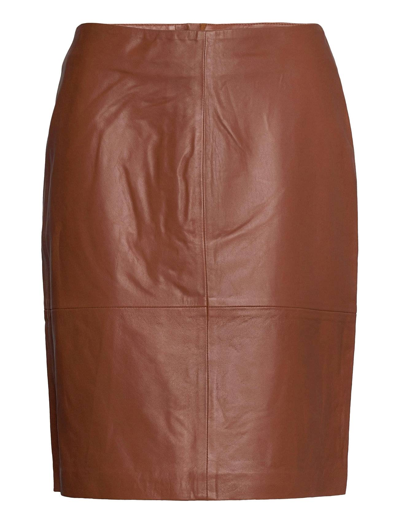 Soaked in Luxury Slfolly Skirt Lyhyt Hame Ruskea Soaked In Luxury