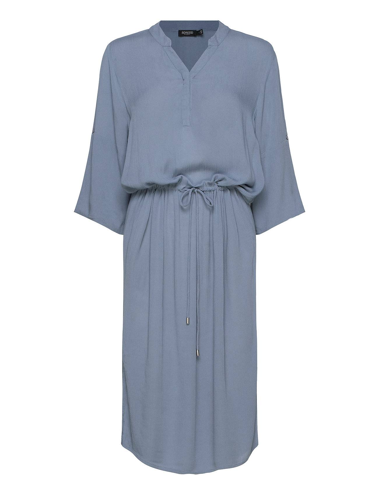 Soaked in Luxury Sl Zaya Dress Polvipituinen Mekko Sininen Soaked In Luxury