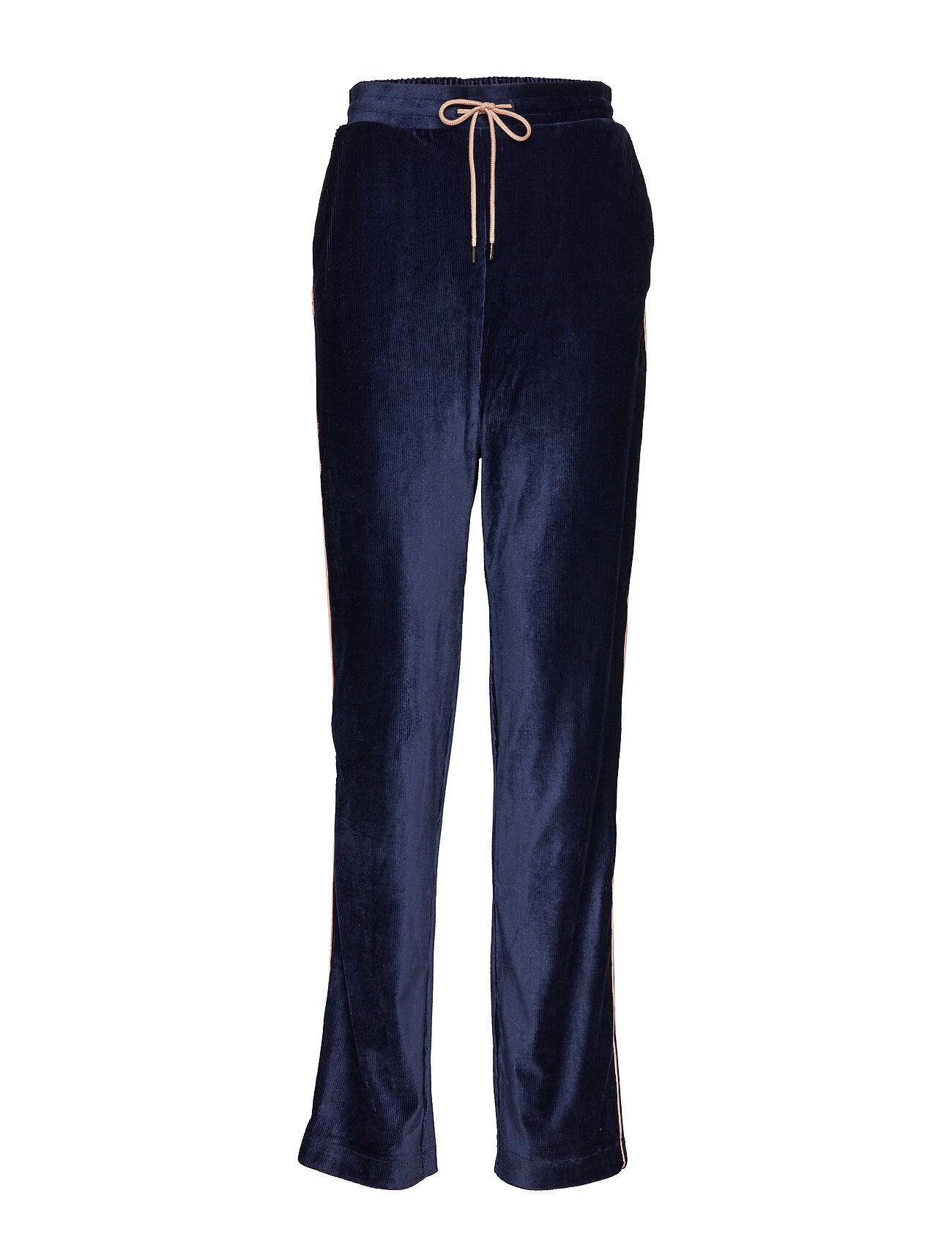 Soaked in Luxury Anella Velvet Pants Casual Housut Sininen Soaked In Luxury