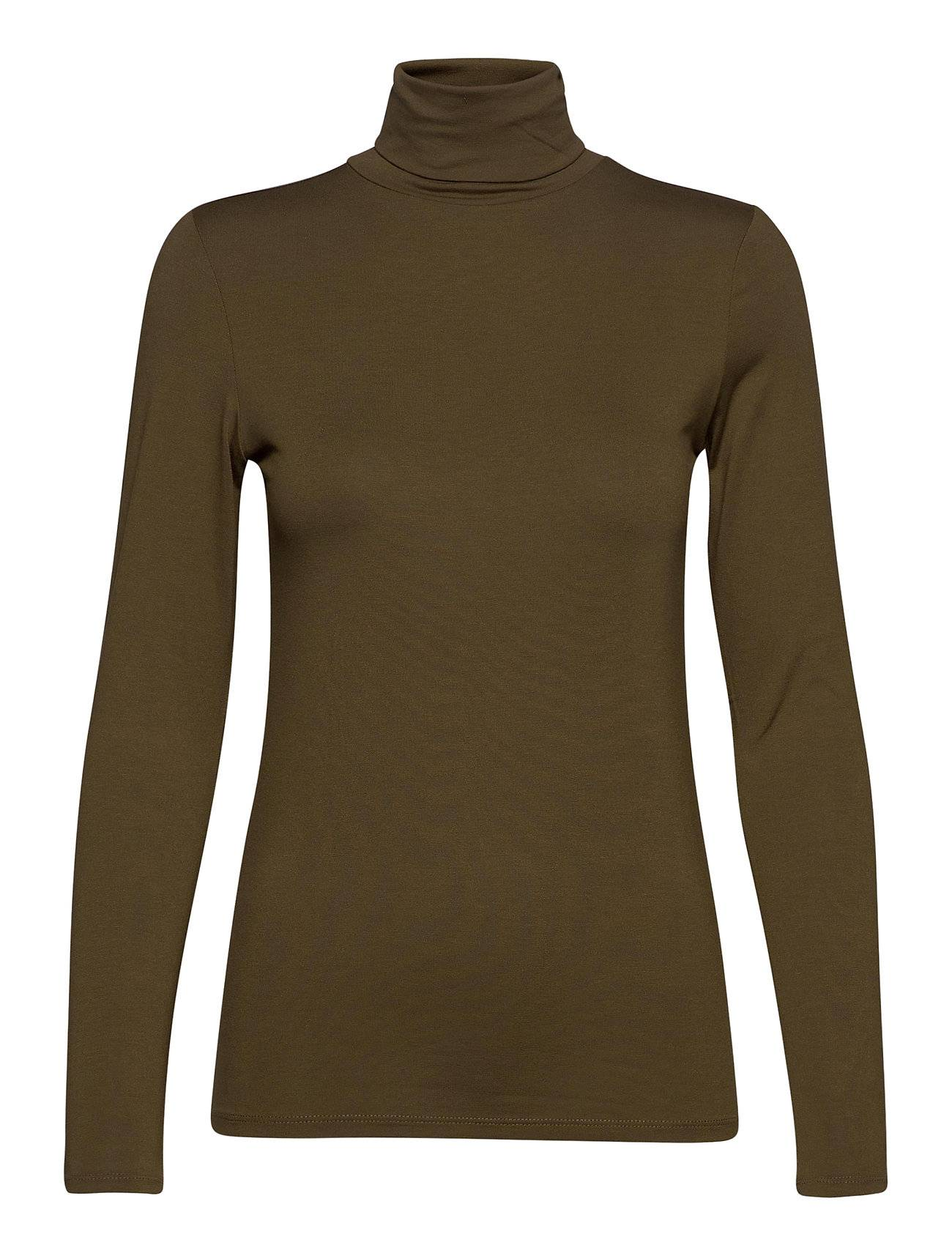 Soaked in Luxury Hanadi Rollneck Ls T-shirts & Tops Long-sleeved Vihreä Soaked In Luxury