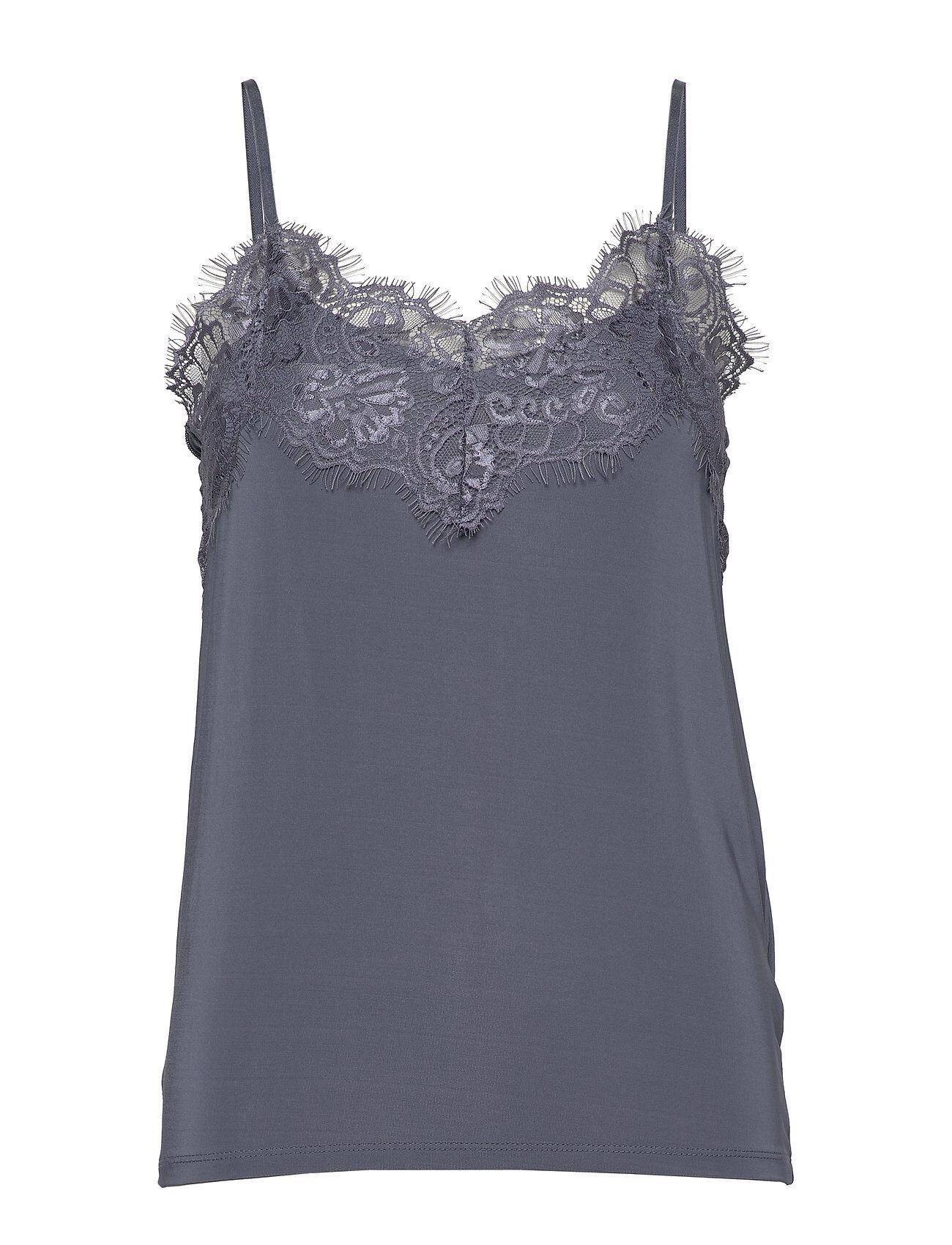 Soaked in Luxury Slclara Singlet T-shirts & Tops Sleeveless Sininen Soaked In Luxury