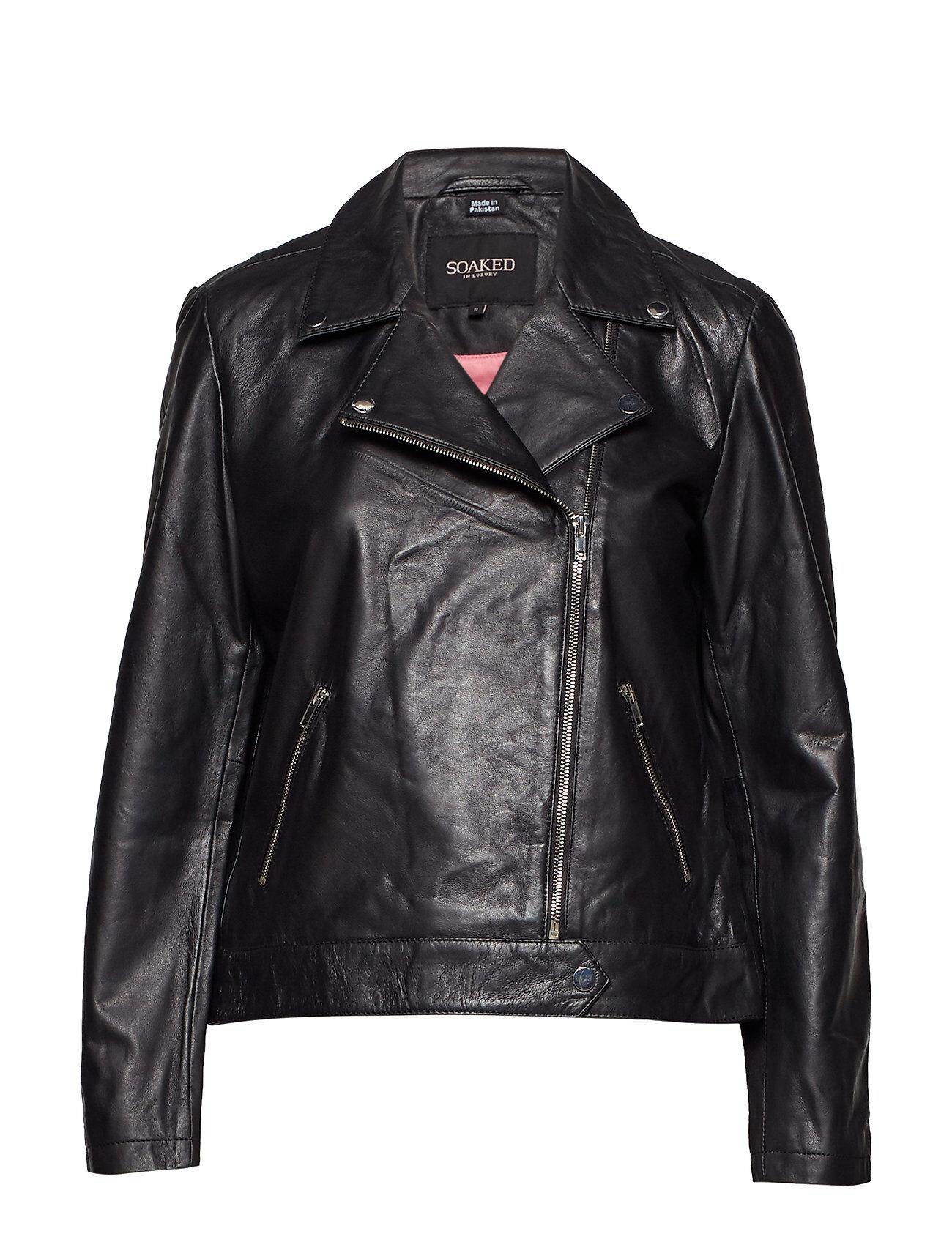 Soaked in Luxury Maeve Leather Jacket Ls Nahkatakki Musta Soaked In Luxury