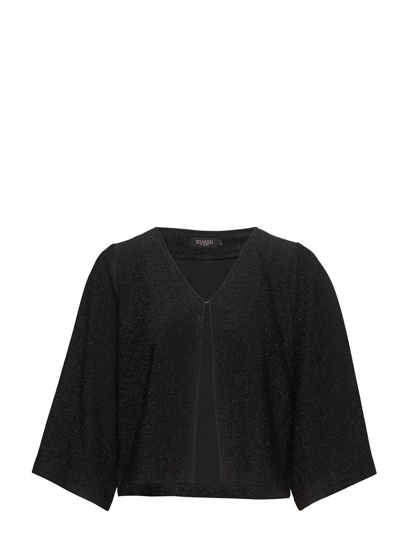 Soaked in Luxury Ziggy Jacket Pitkähihainen Pusero Paita Musta Soaked In Luxury