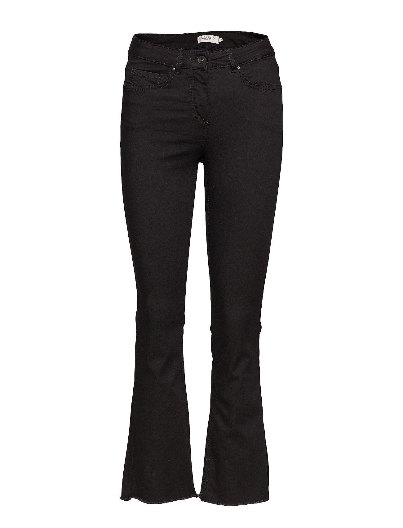 Soaked in Luxury Sx Britney Jeans Leveälahkeiset Farkut Musta Soaked In Luxury