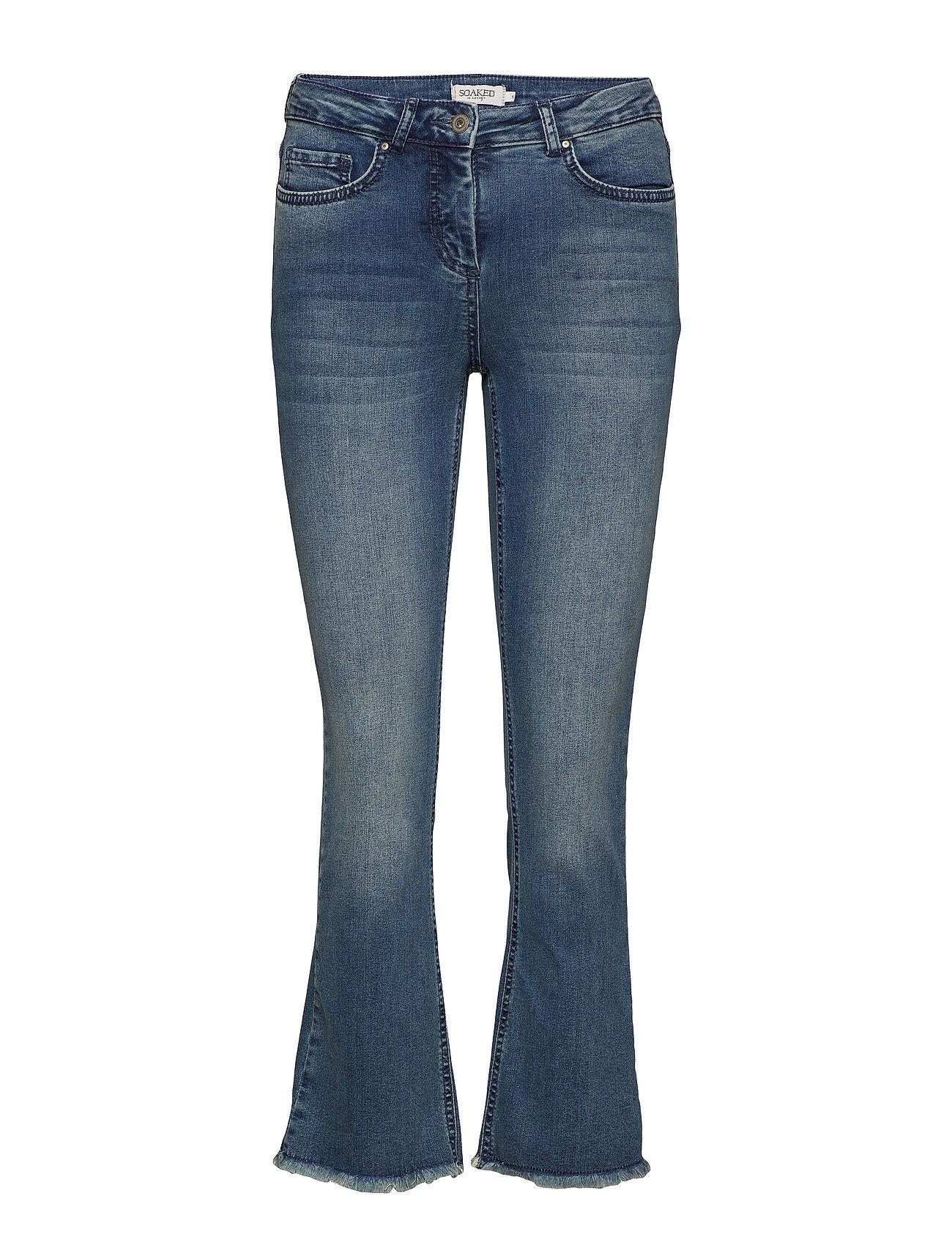Soaked in Luxury Sx Britney Jeans Leveälahkeiset Farkut Sininen Soaked In Luxury