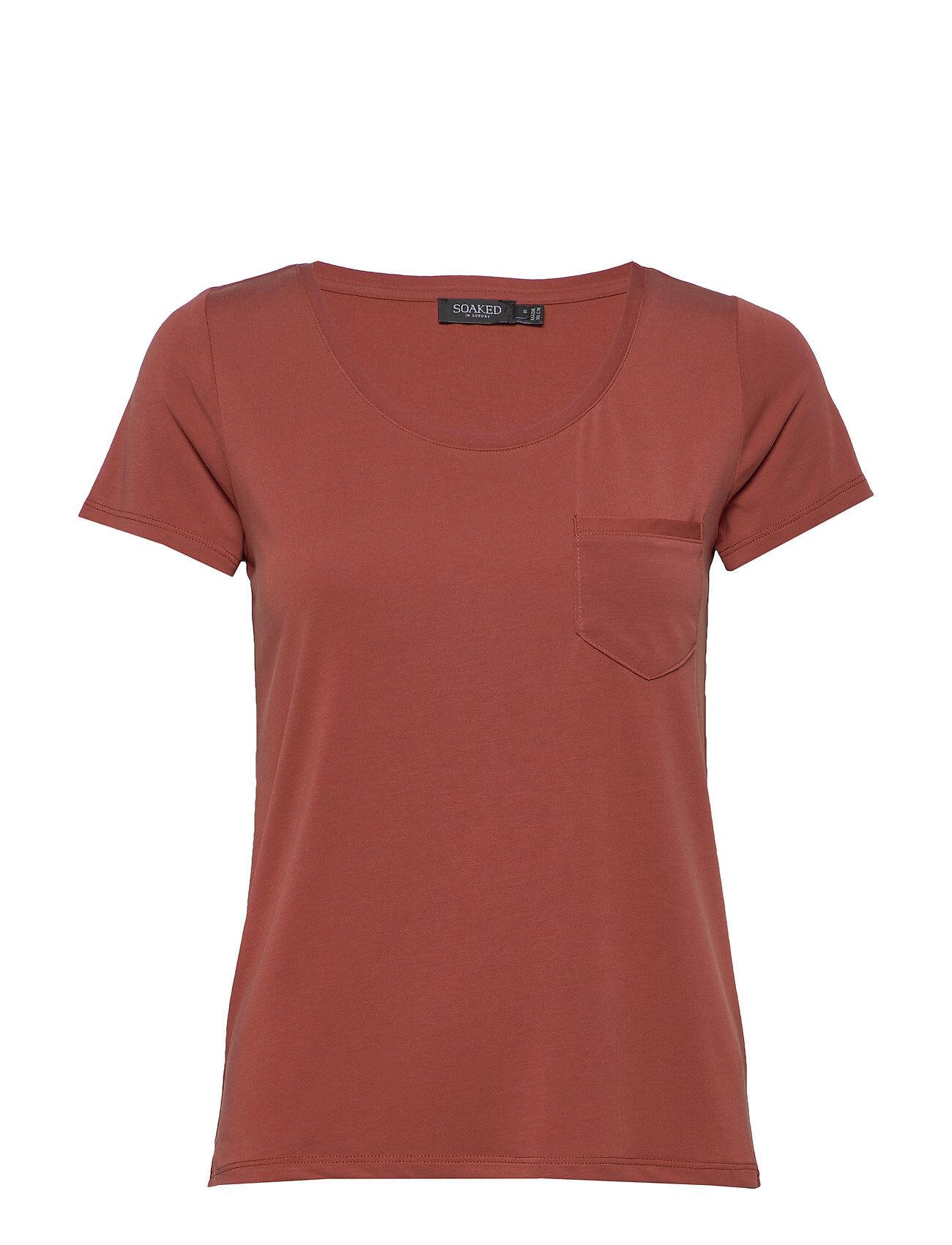 Soaked in Luxury Slcolumbine Tee T-shirts & Tops Short-sleeved Punainen Soaked In Luxury