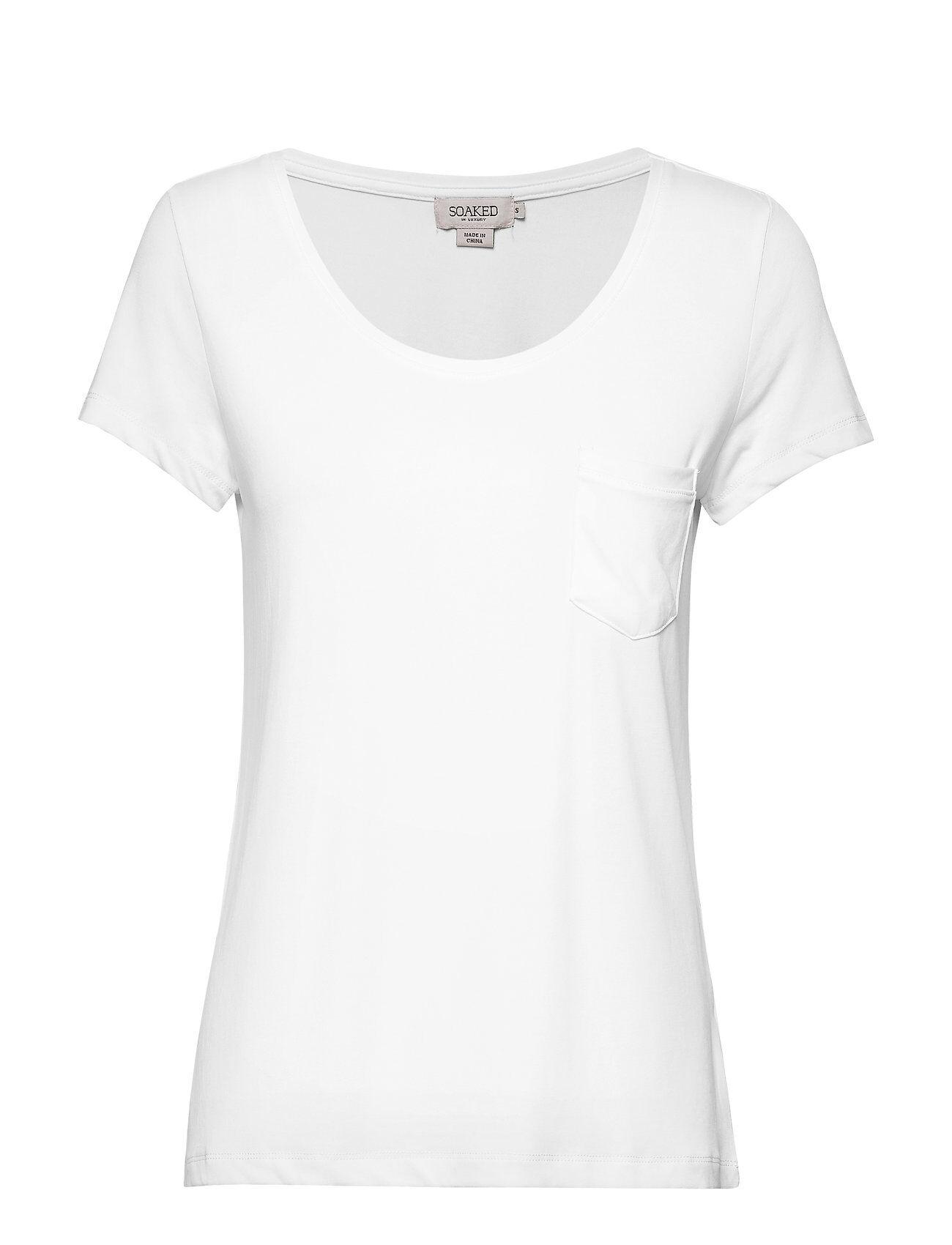Soaked in Luxury Slcolumbine Tee T-shirts & Tops Short-sleeved Valkoinen Soaked In Luxury