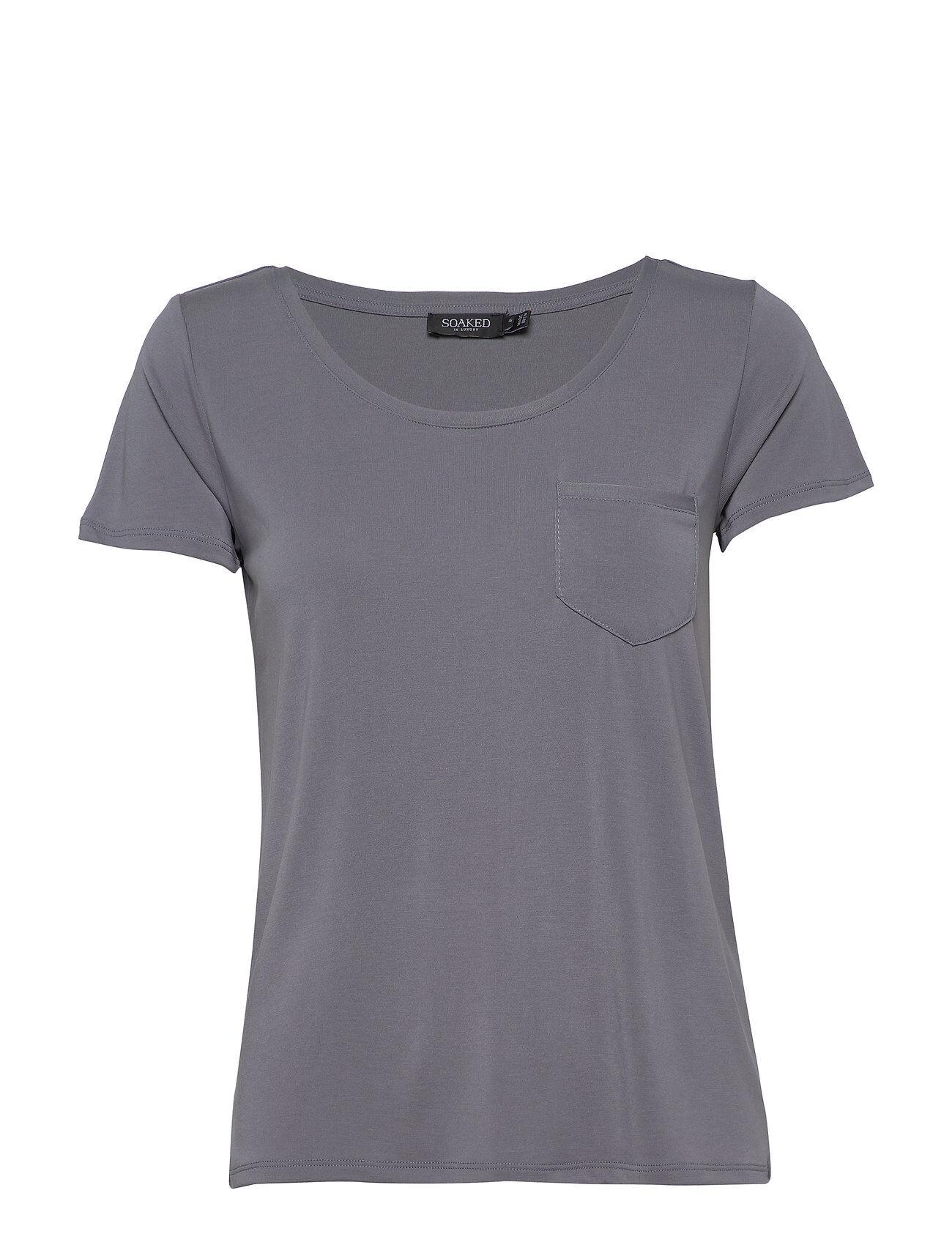 Soaked in Luxury Slcolumbine Tee T-shirts & Tops Short-sleeved Sininen Soaked In Luxury
