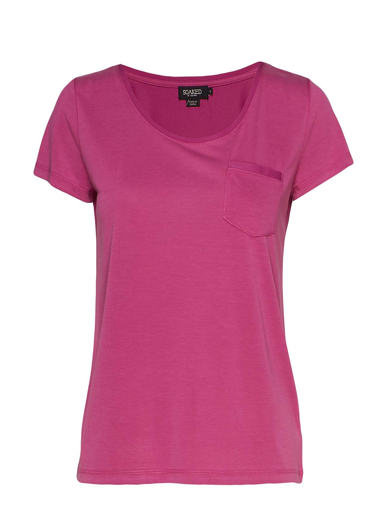 Soaked in Luxury Slcolumbine Tee T-shirts & Tops Short-sleeved Liila Soaked In Luxury