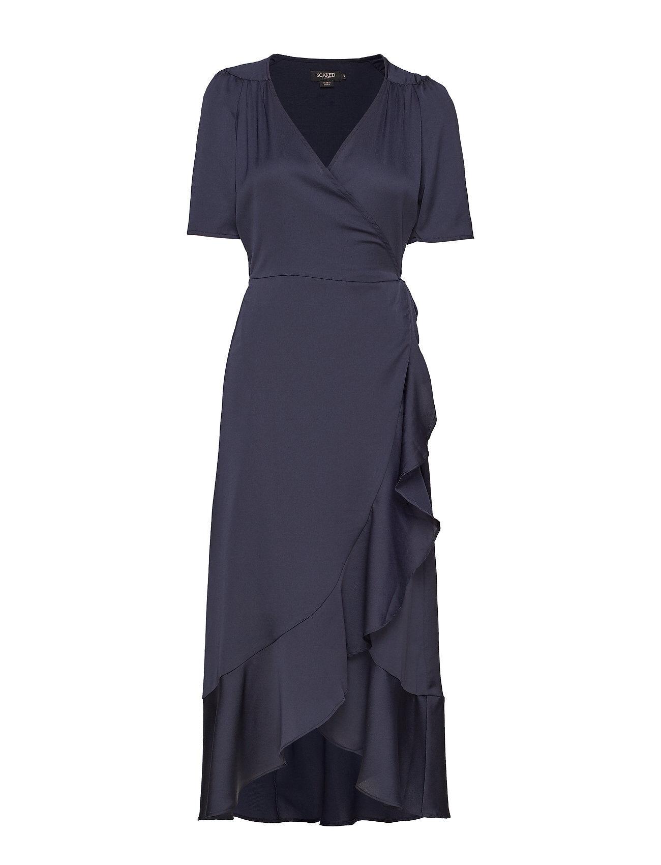 Soaked in Luxury Sl Karven Dress Polvipituinen Mekko Sininen Soaked In Luxury