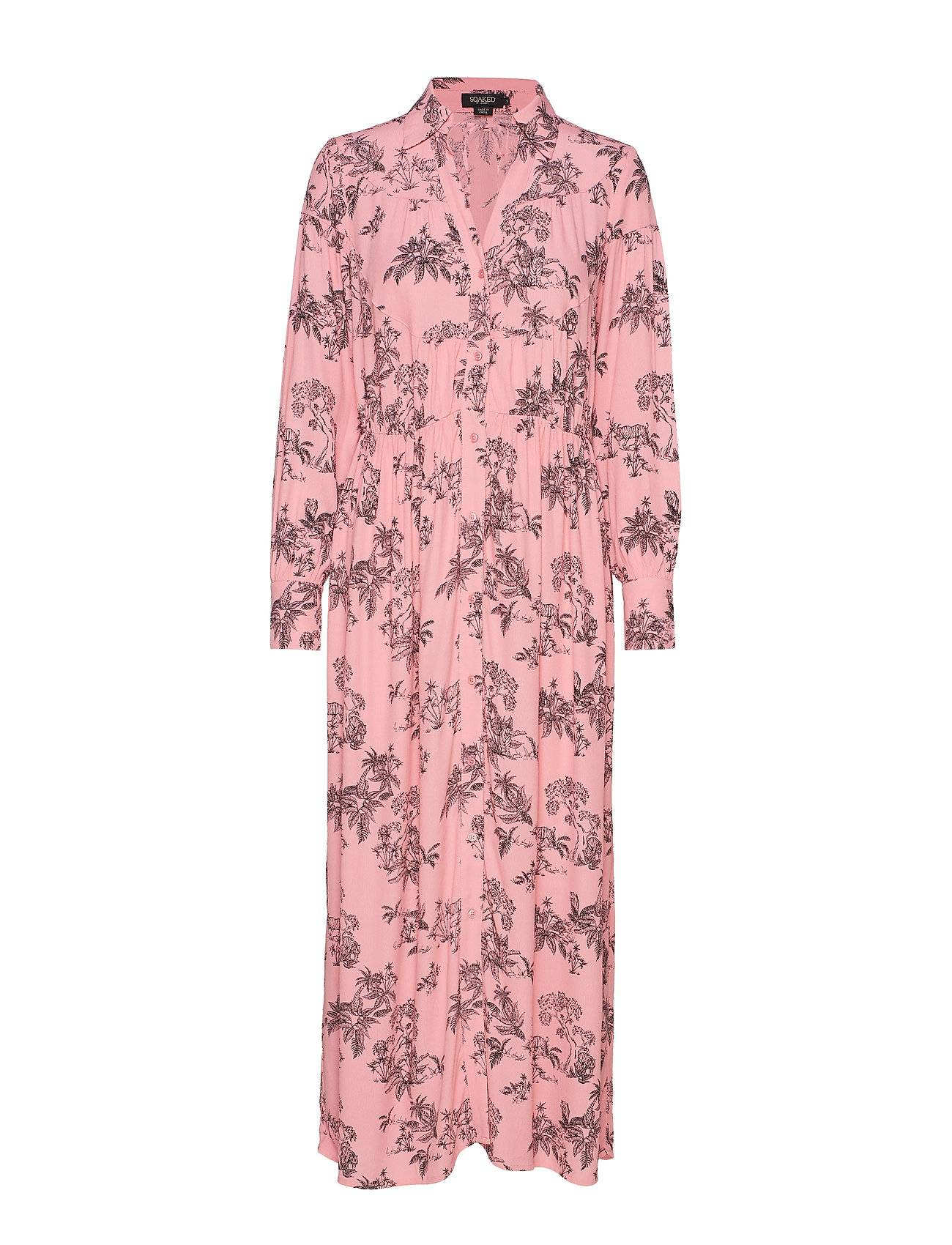 Soaked in Luxury Sl Mimi Dress Maksimekko Juhlamekko Vaaleanpunainen Soaked In Luxury