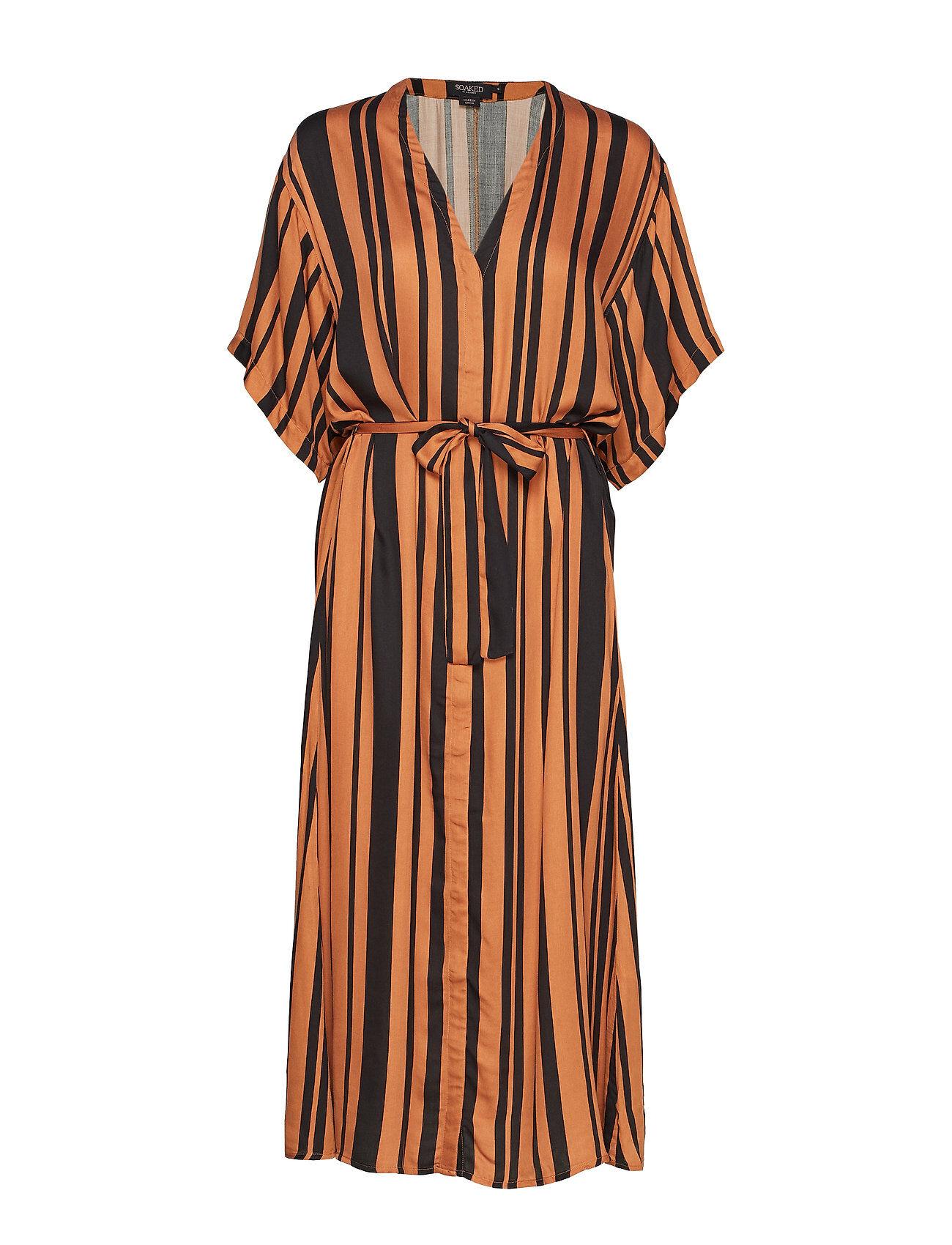 Soaked in Luxury Sl Rochella Dress Polvipituinen Mekko Oranssi Soaked In Luxury