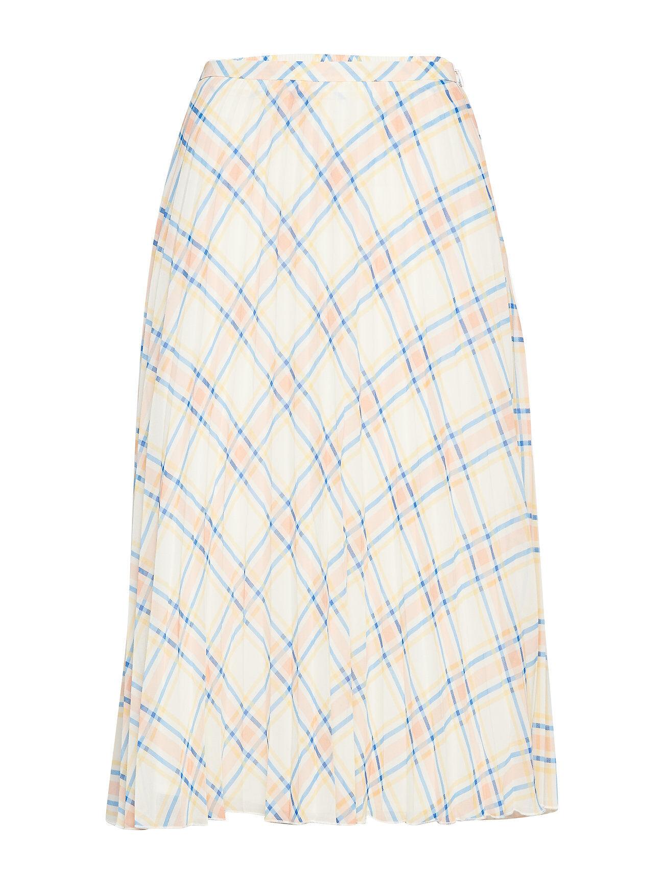 Soaked in Luxury Sl Tallie Skirt Polvipituinen Hame Valkoinen Soaked In Luxury