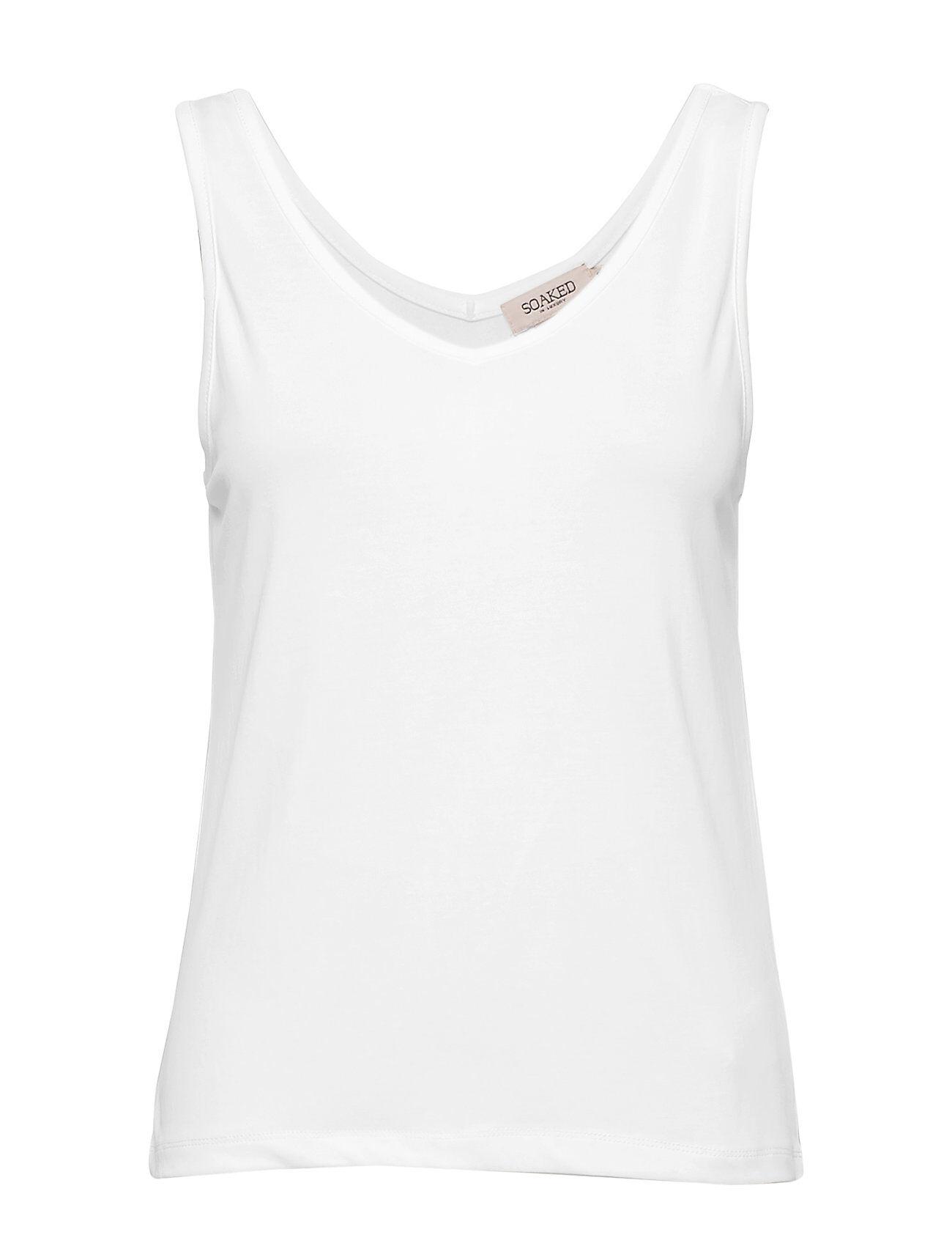 Soaked in Luxury Sl Columbine Tank Top T-shirts & Tops Sleeveless Valkoinen Soaked In Luxury