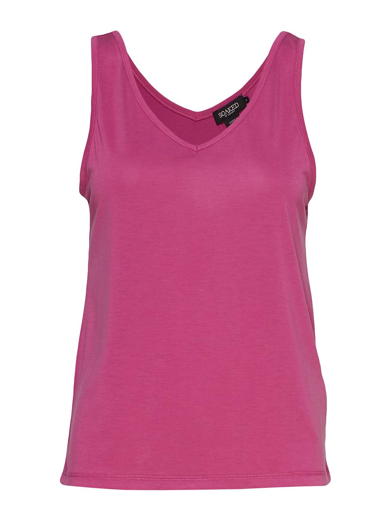 Soaked in Luxury Sl Columbine Tank Top T-shirts & Tops Sleeveless Vaaleanpunainen Soaked In Luxury