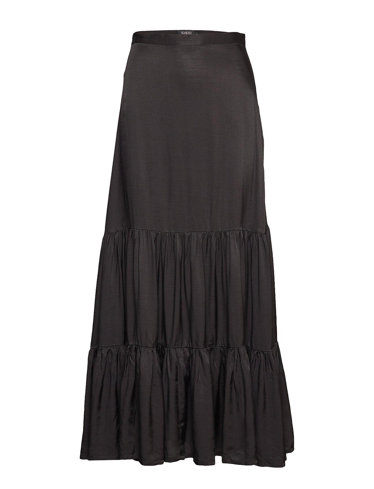 Soaked in Luxury Sl Judy Maxi Skirt Pitkä Hame Musta Soaked In Luxury