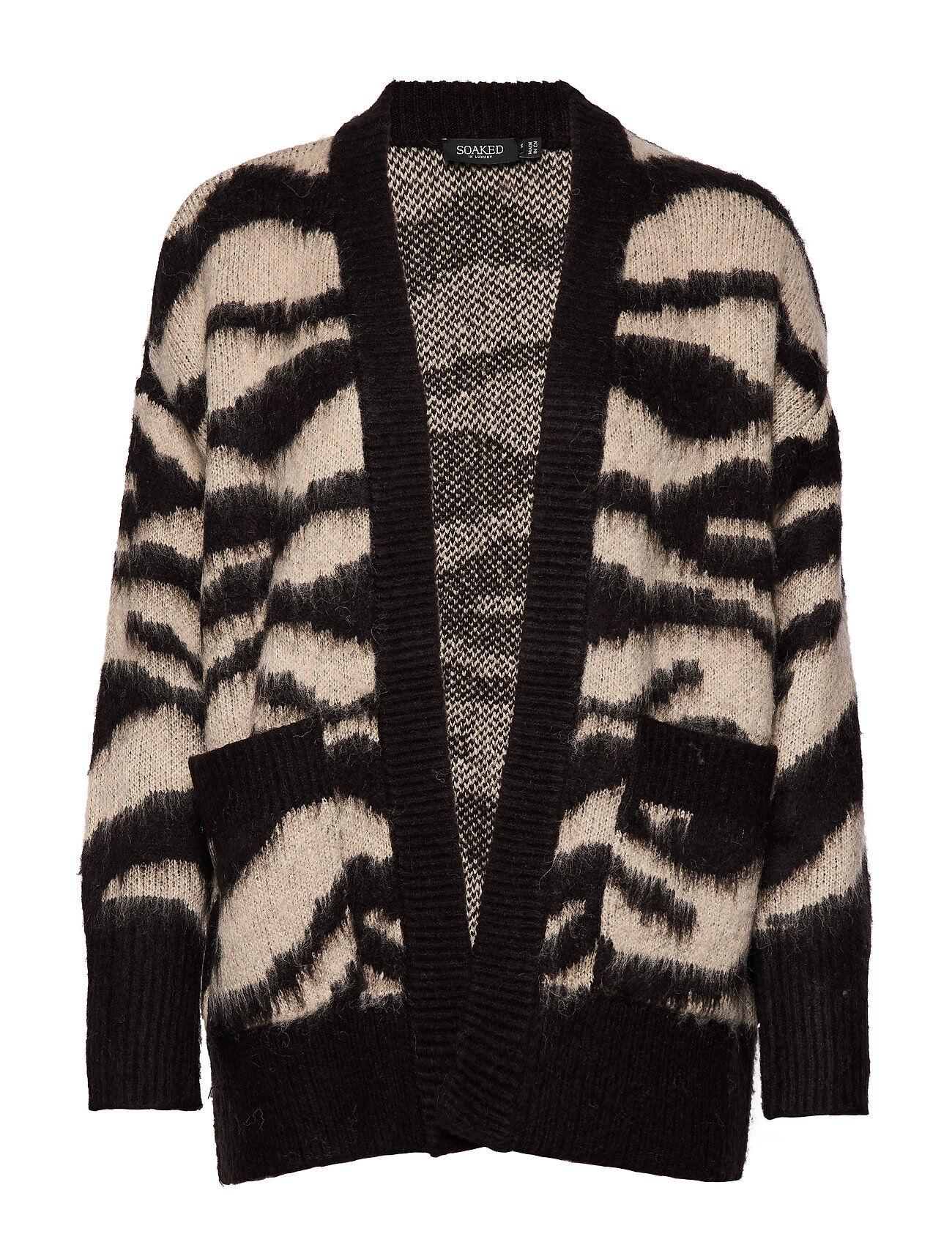Soaked in Luxury Sl Tigerlily Cardigan Ls Neuletakki Musta Soaked In Luxury