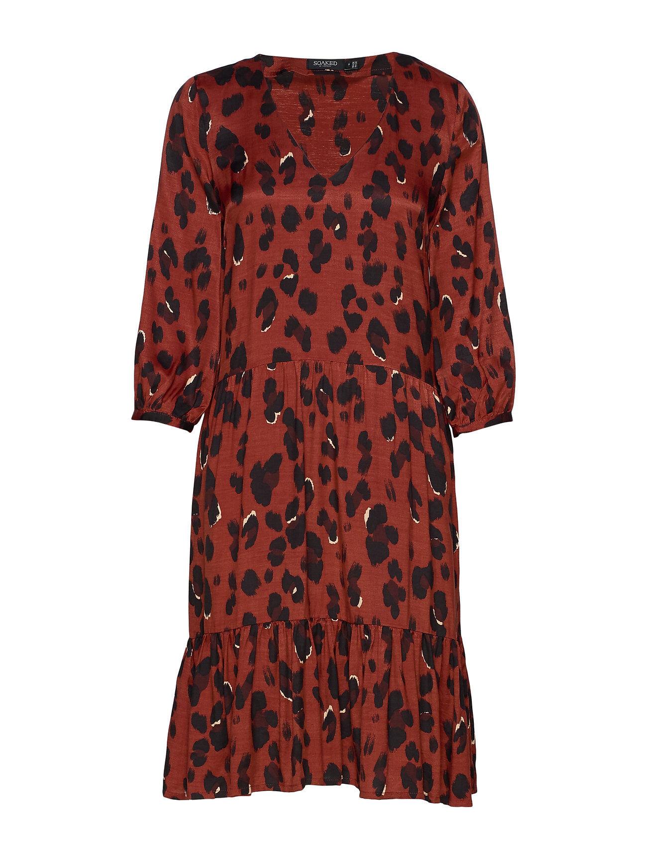 Soaked in Luxury Sl Maxwell Dress Polvipituinen Mekko Punainen Soaked In Luxury