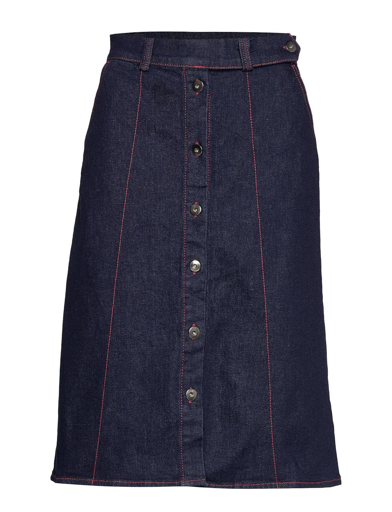 Soaked in Luxury Sl Zadie Skirt Polvipituinen Hame Sininen Soaked In Luxury