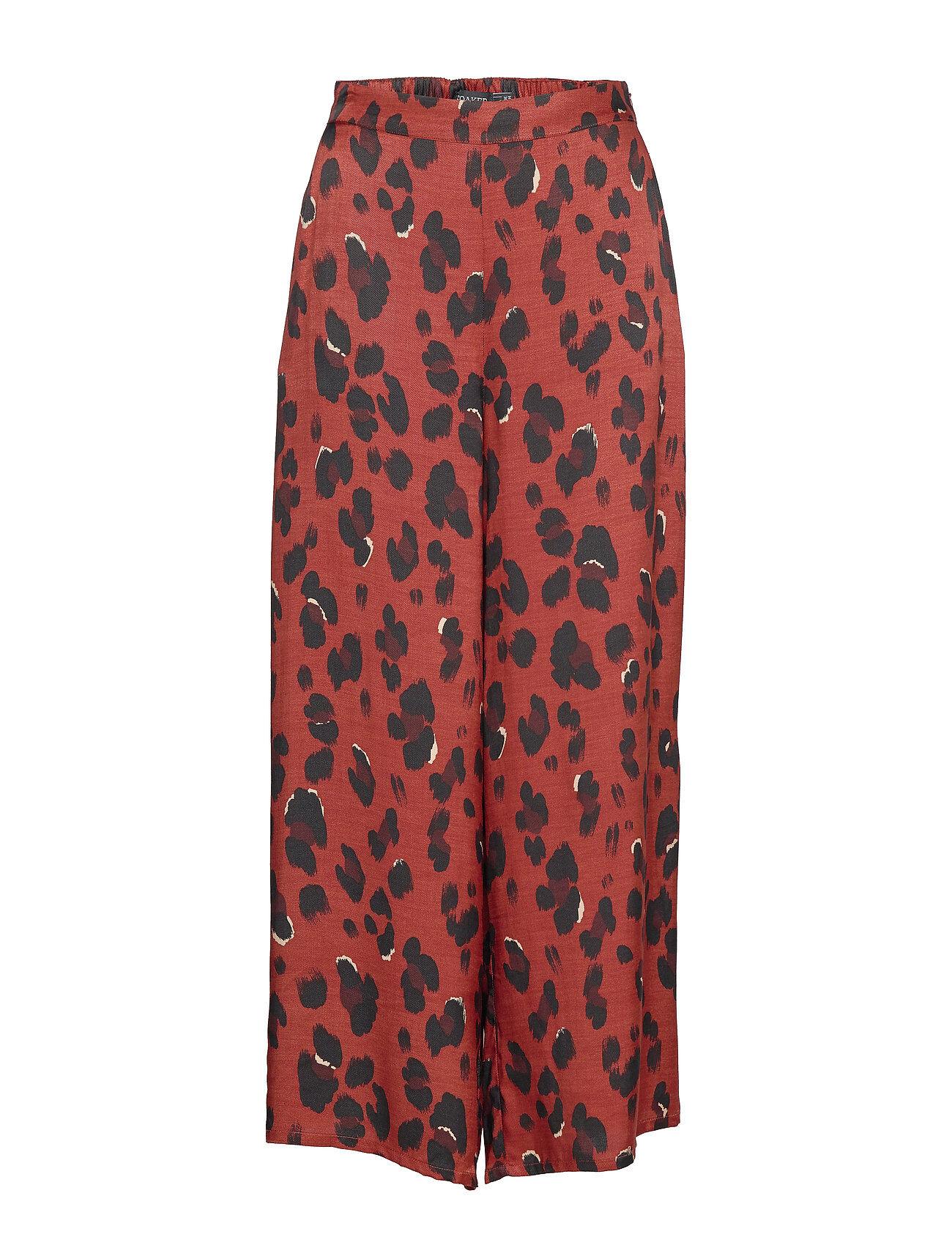 Soaked in Luxury Sl Maxwell Pants Leveälahkeiset Housut Punainen Soaked In Luxury