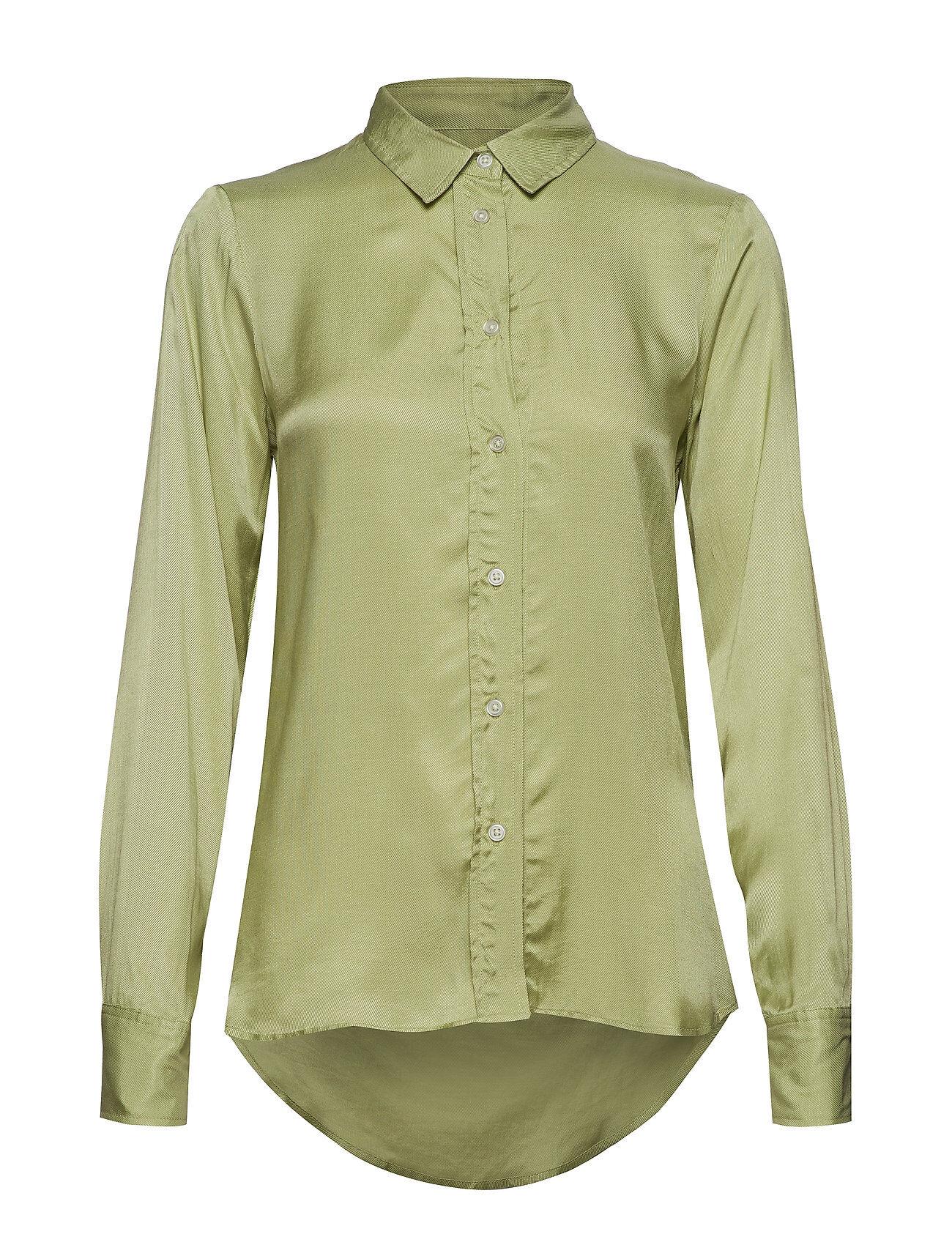 Soaked in Luxury Sl Jeanette Shirt Ls Pitkähihainen Paita Vihreä Soaked In Luxury